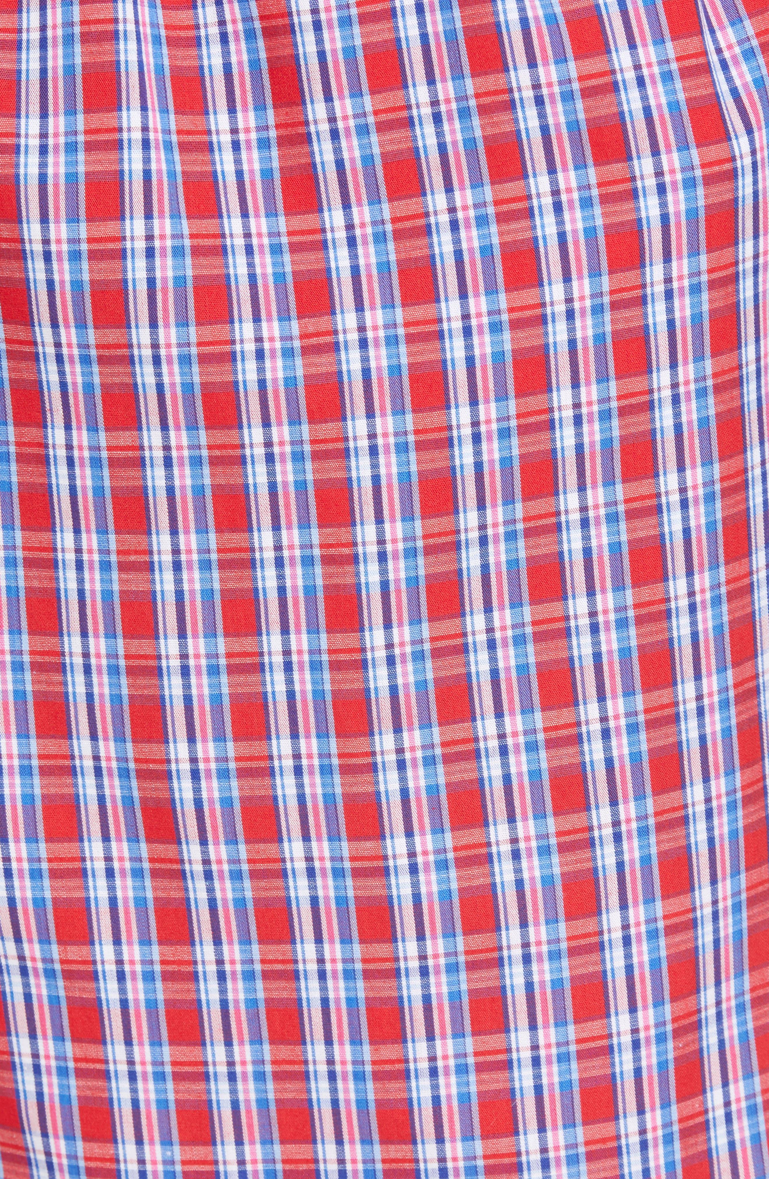 Cotton Lounge Pants,                             Alternate thumbnail 5, color,                             NEWPORT PLAID/ NAVY
