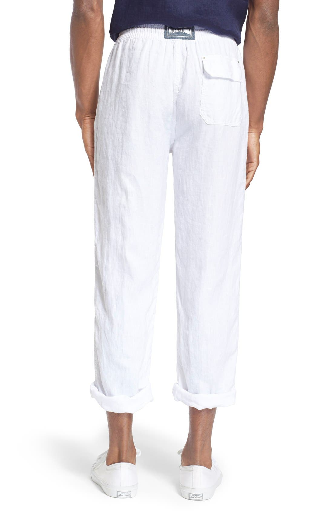 'Pacha' Linen Pants,                             Alternate thumbnail 2, color,                             100