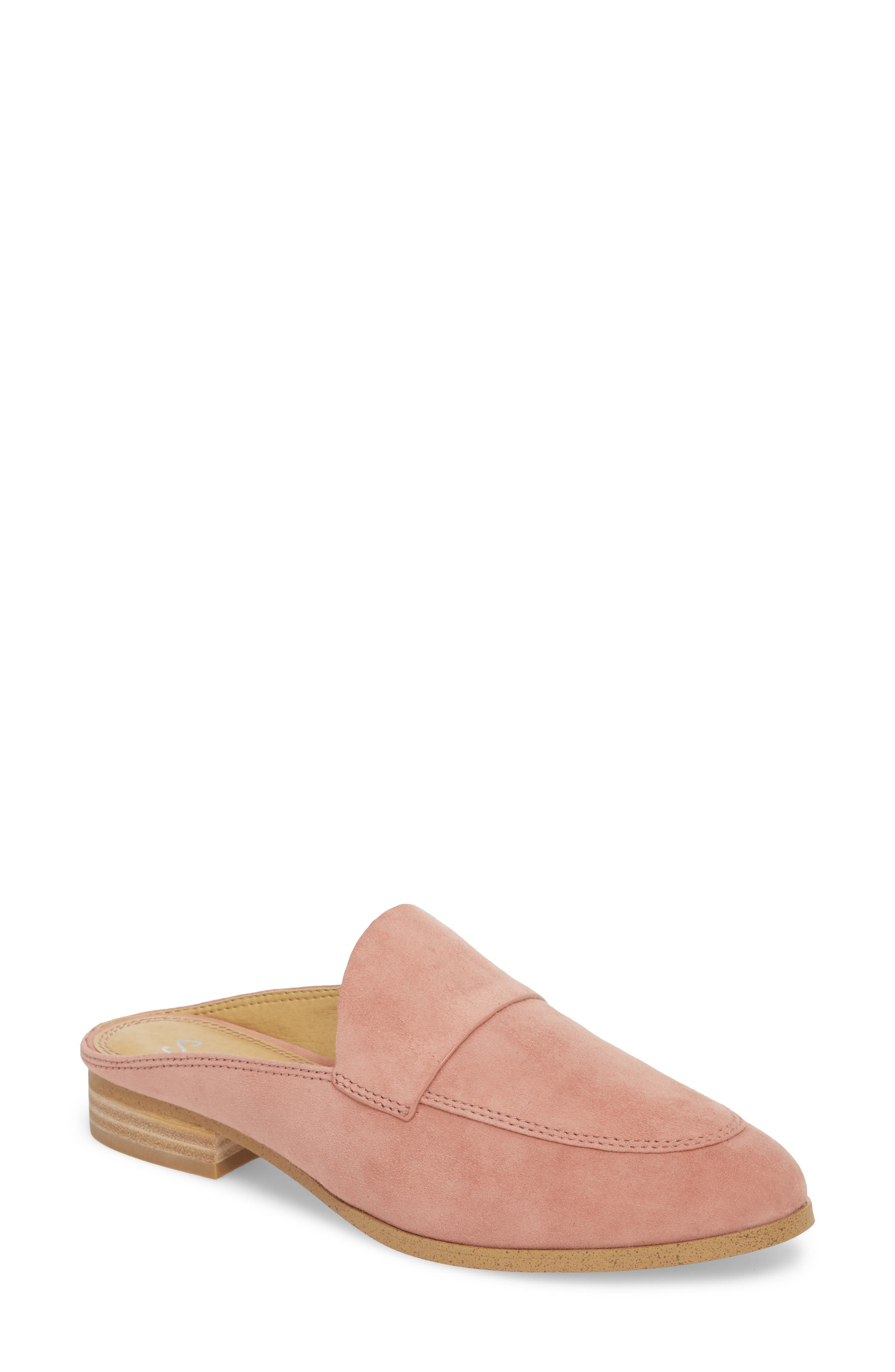 Nima Loafer Mule,                             Main thumbnail 1, color,                             ROSE TAUPE SUEDE