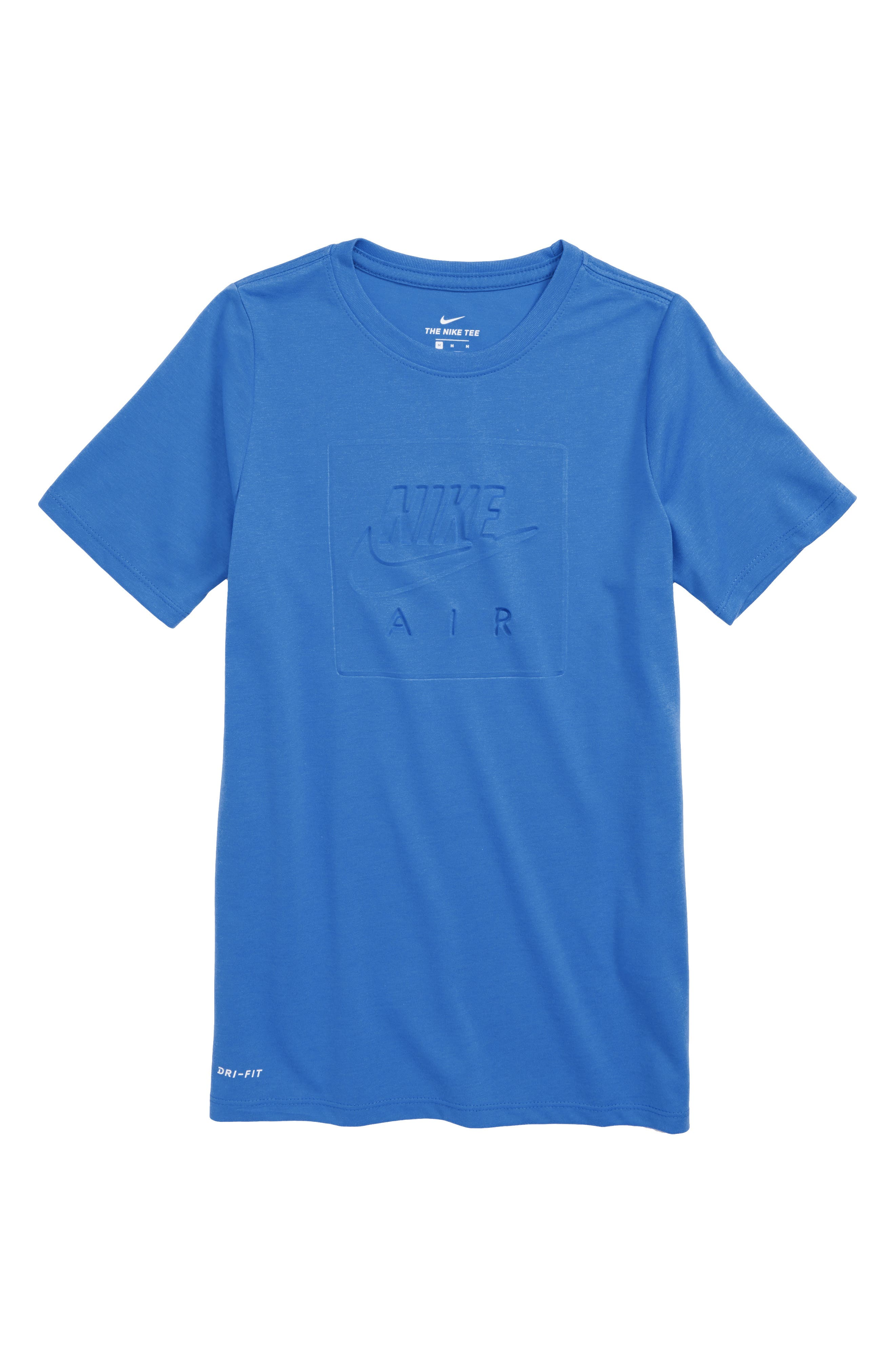 Air Logo T-Shirt,                         Main,                         color, SIGNAL BLUE