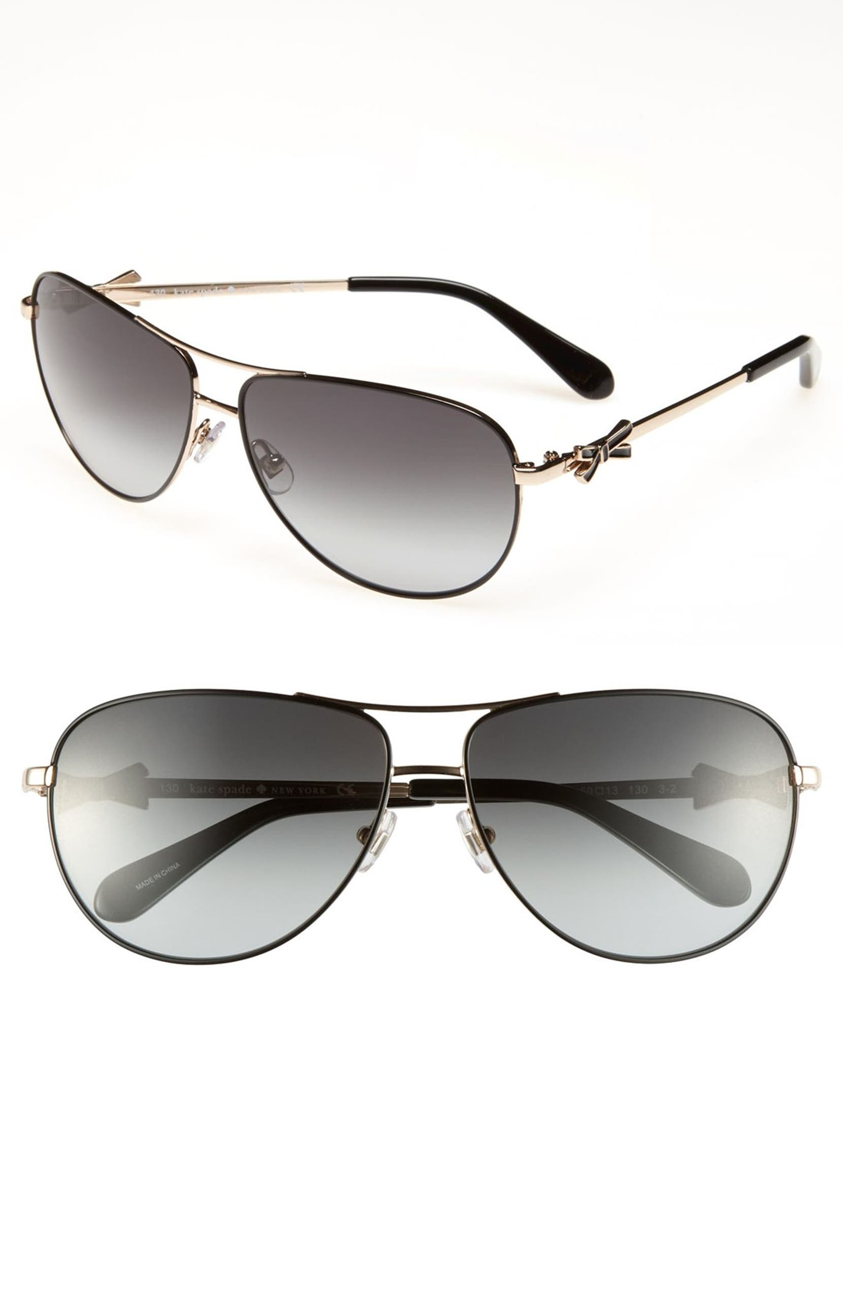 f7faa77695 kate spade new york  circe  59mm metal aviator sunglasses