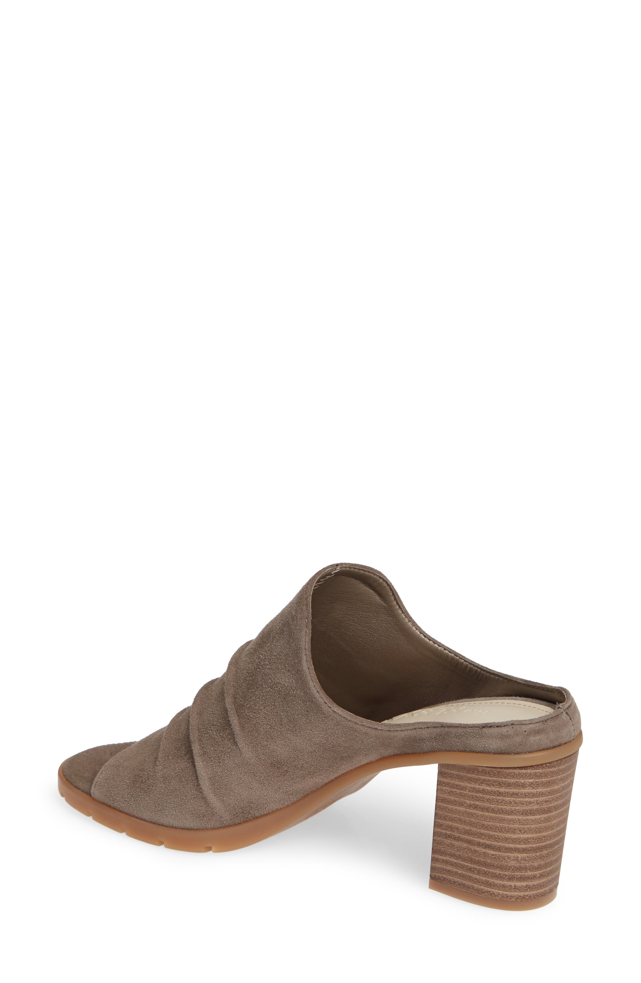 Aim to Pleat Mule,                             Alternate thumbnail 2, color,                             BROWN LEATHER