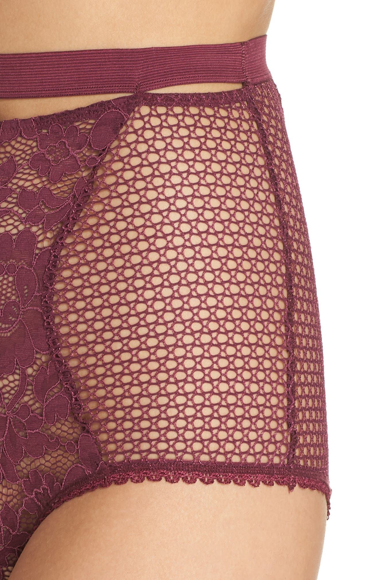 Petunia Lace Briefs,                             Alternate thumbnail 4, color,                             MAGENTA