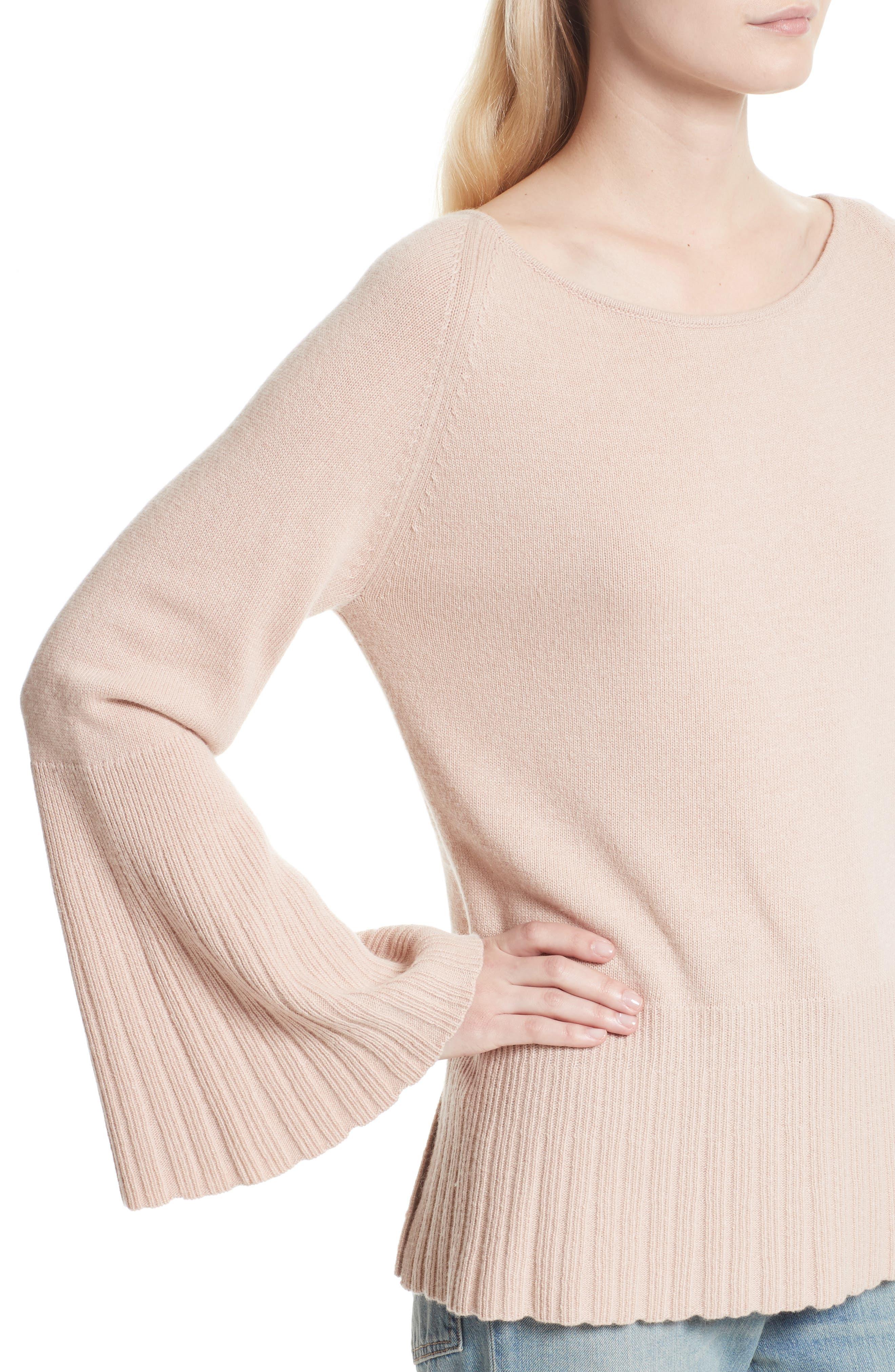 Clarette Bell Sleeve Sweater,                             Alternate thumbnail 4, color,                             650