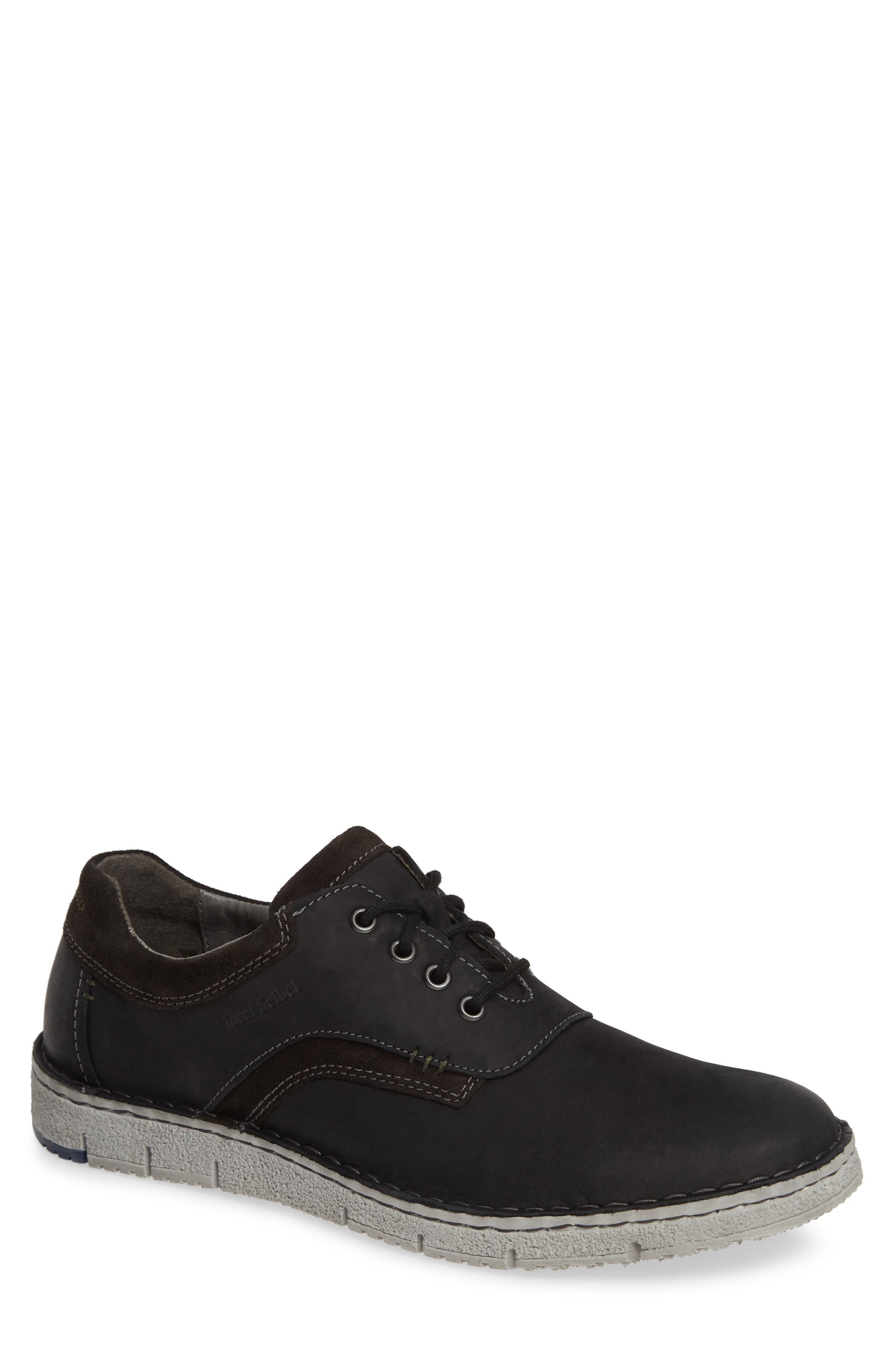 Ruben 13 Plain Toe Oxford,                         Main,                         color, BLACK MARANELLO SUEDE