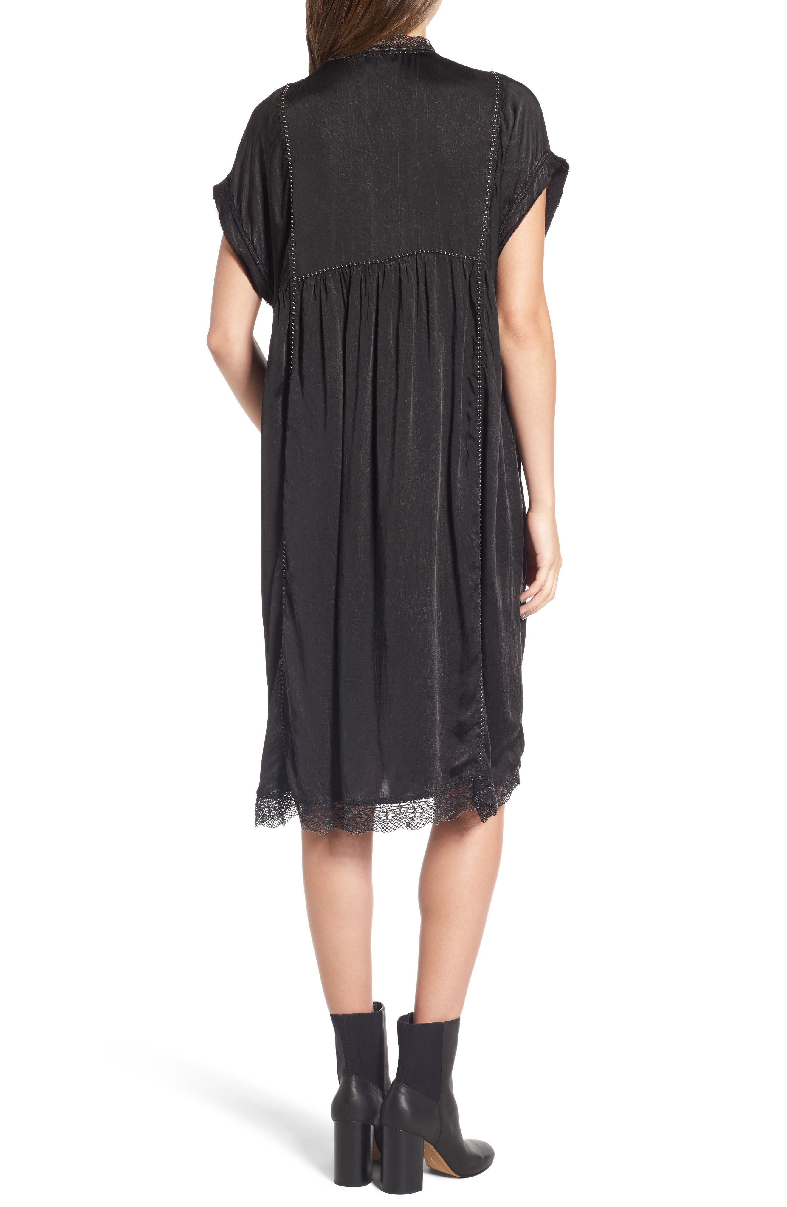 Rastana Babydoll Dress,                             Alternate thumbnail 2, color,                             001
