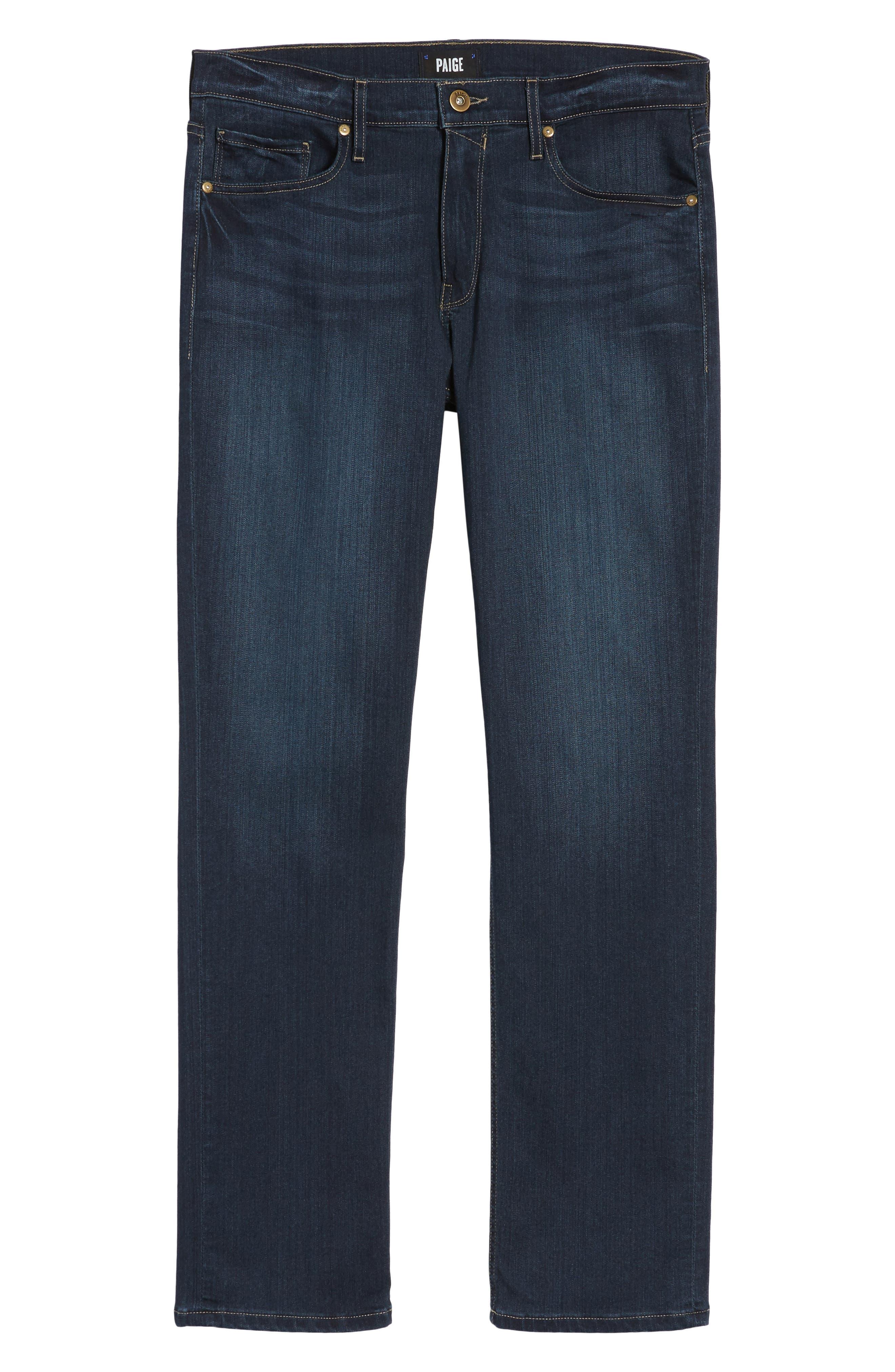 Transcend - Normandie Straight Fit Jeans,                             Alternate thumbnail 6, color,                             400