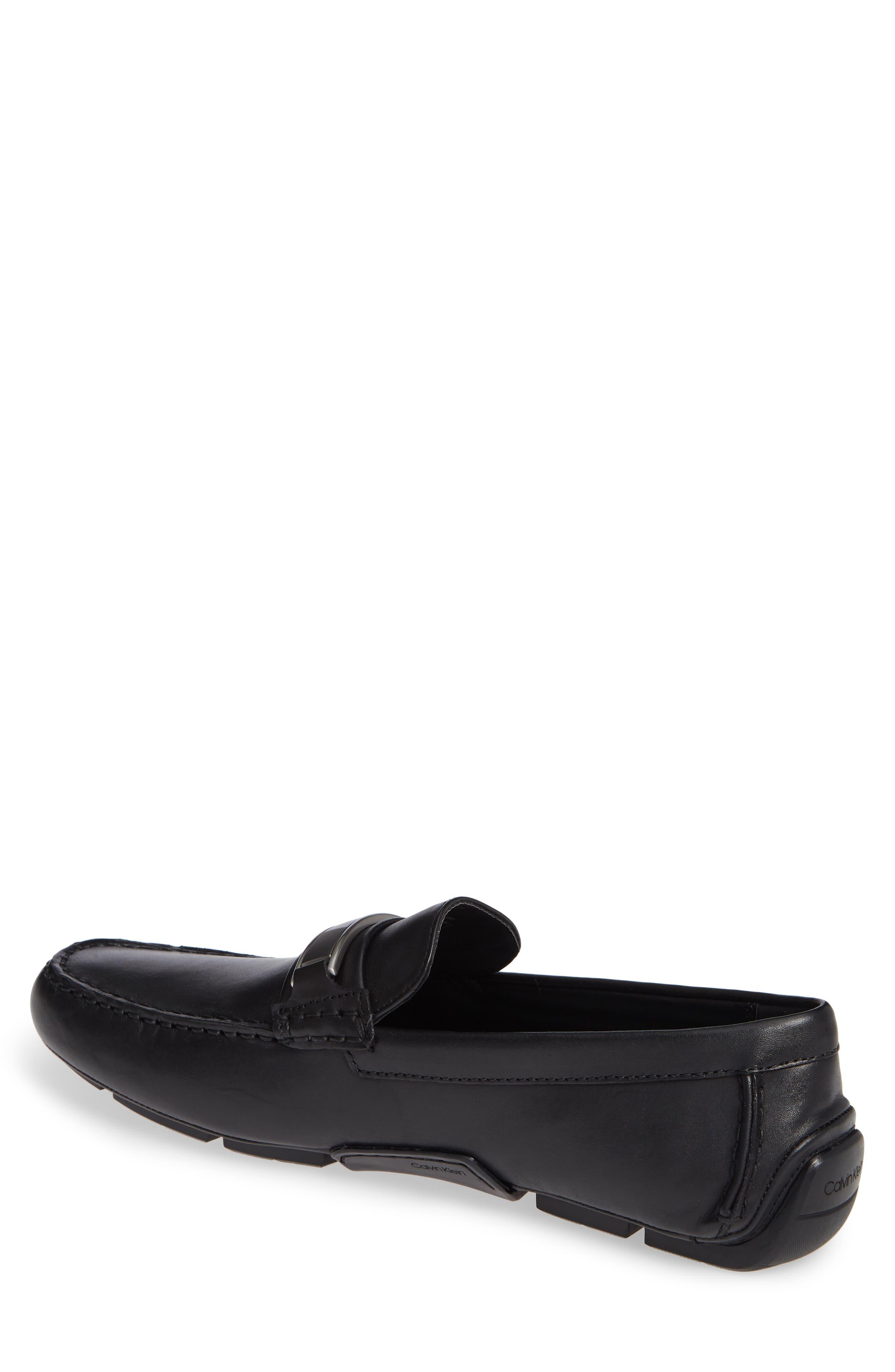 Kadison Buckle Driving Shoe,                             Alternate thumbnail 2, color,                             BLACK LEATHER