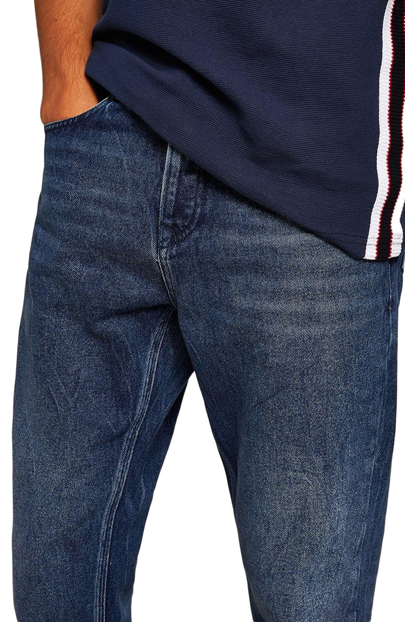 Cupid Rigid Taper Jeans,                             Alternate thumbnail 3, color,                             DARK BLUE