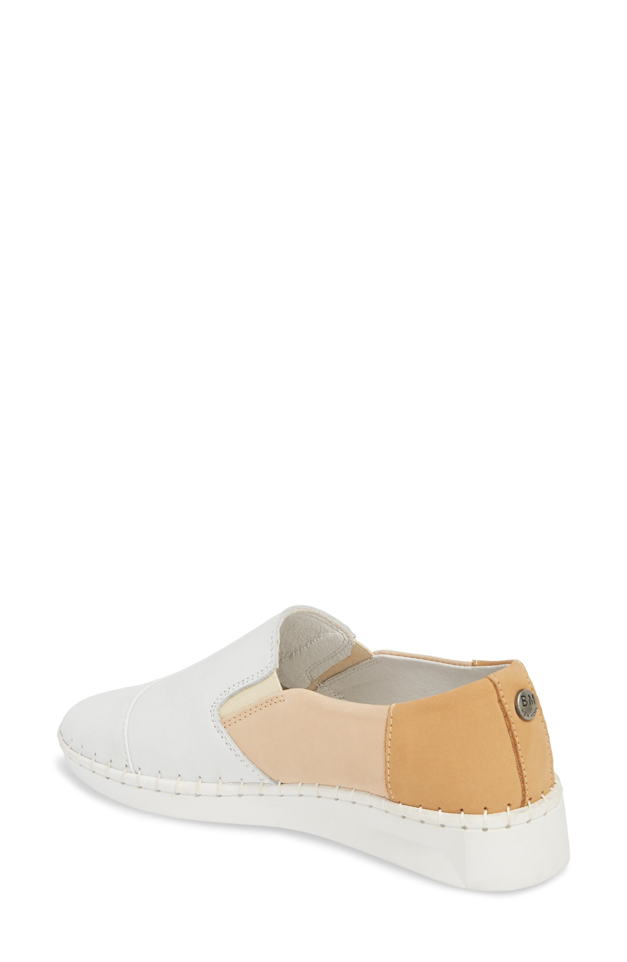 TW107 Slip-On Flat,                             Alternate thumbnail 2, color,                             NUDE MIX LEATHER