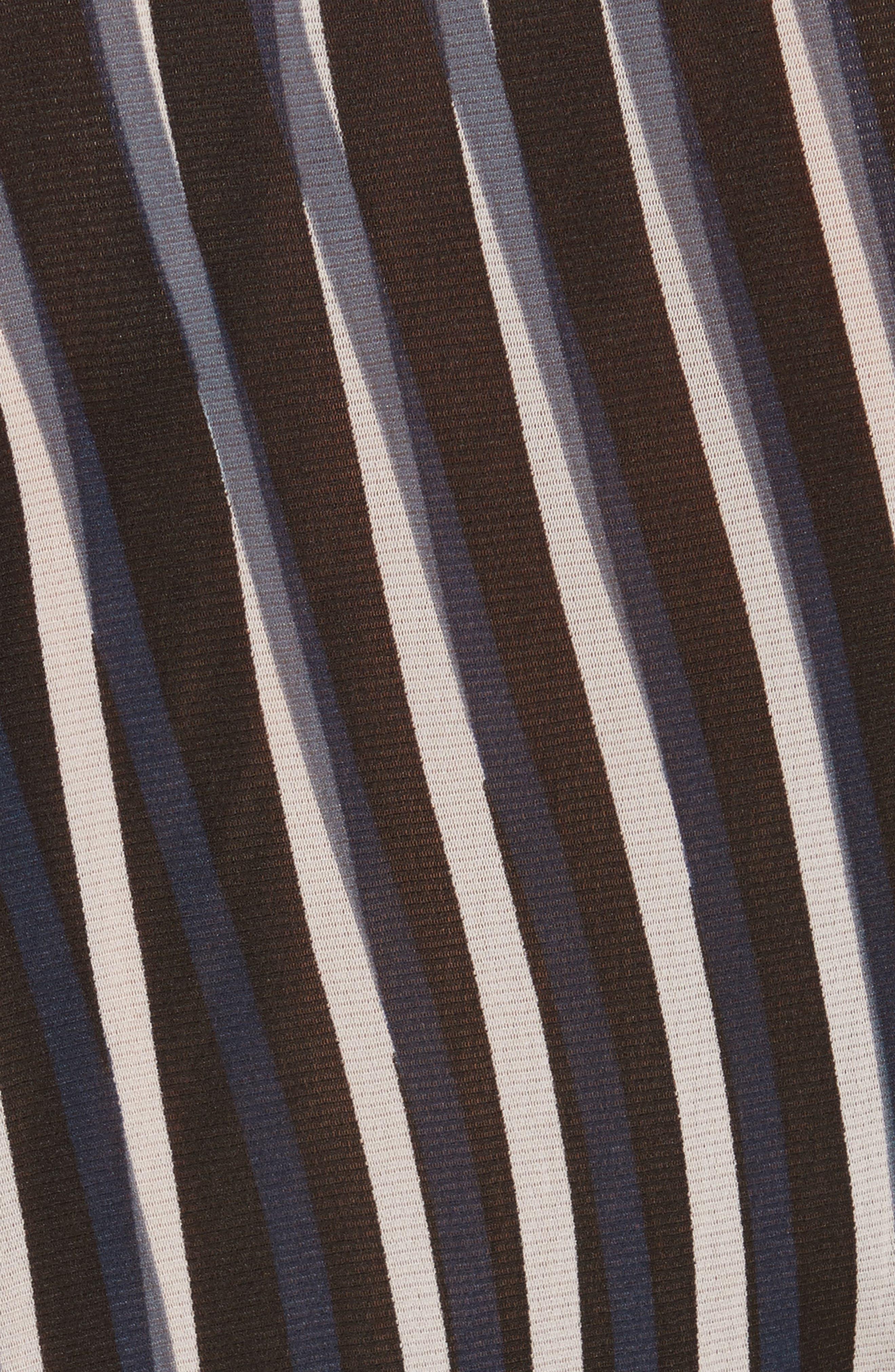 Diane von Furstenberg Fitted Print Top,                             Alternate thumbnail 5, color,                             004