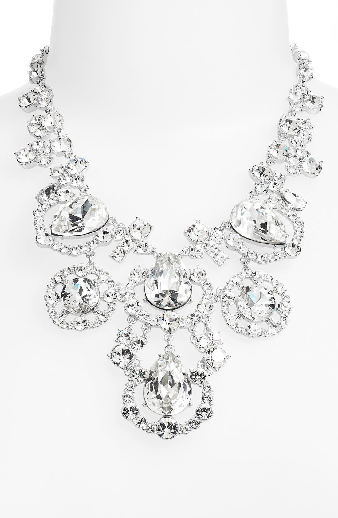 'grand debut' bib necklace,                             Alternate thumbnail 2, color,                             042