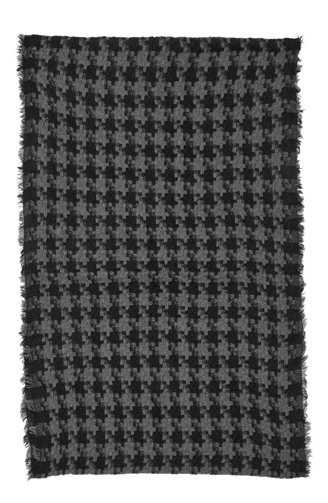 Houndstooth Woven Infinity Scarf,                             Alternate thumbnail 2, color,                             001