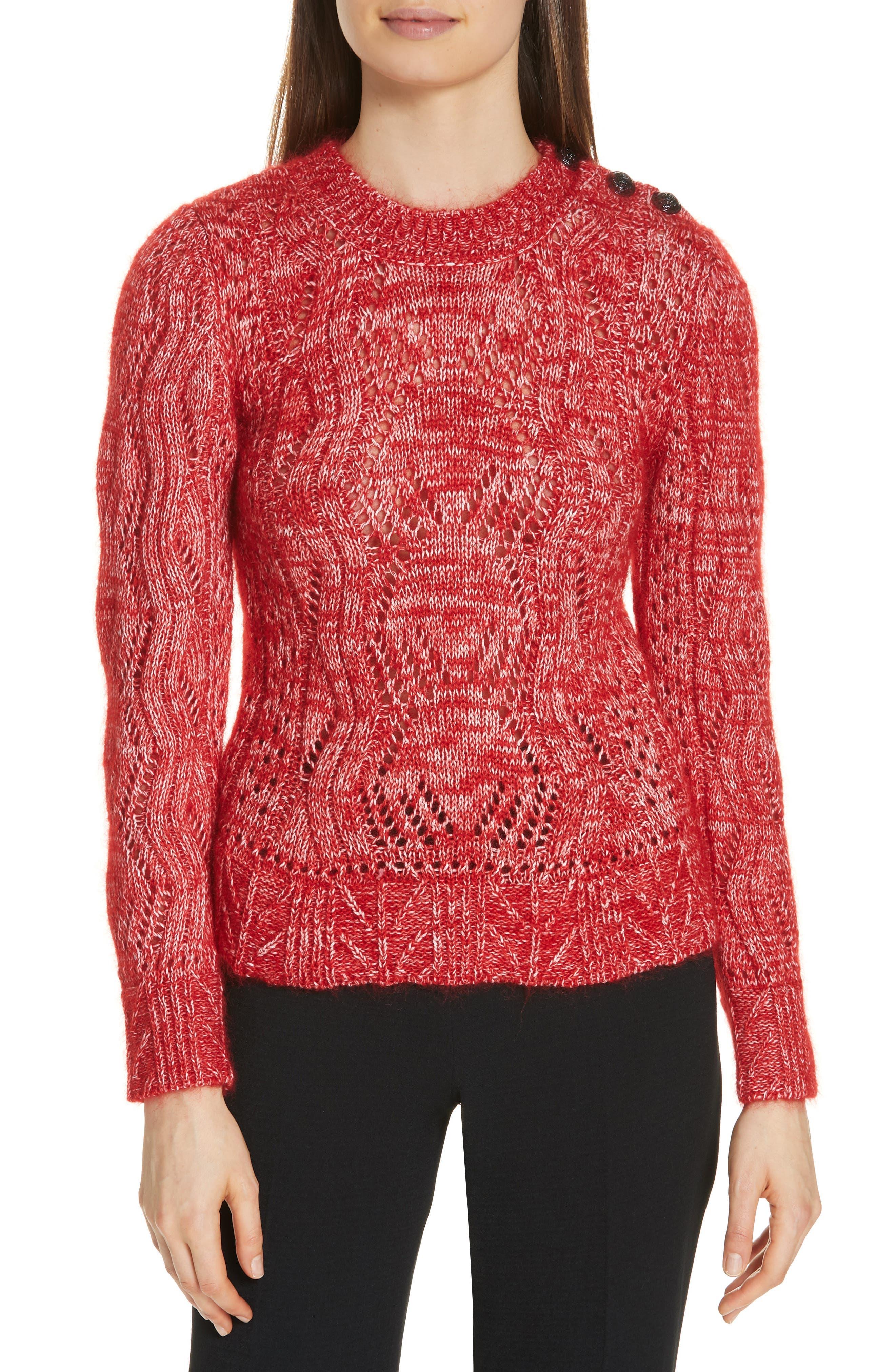 Numa Cotton & Silk Blend Sweater,                             Main thumbnail 1, color,                             600