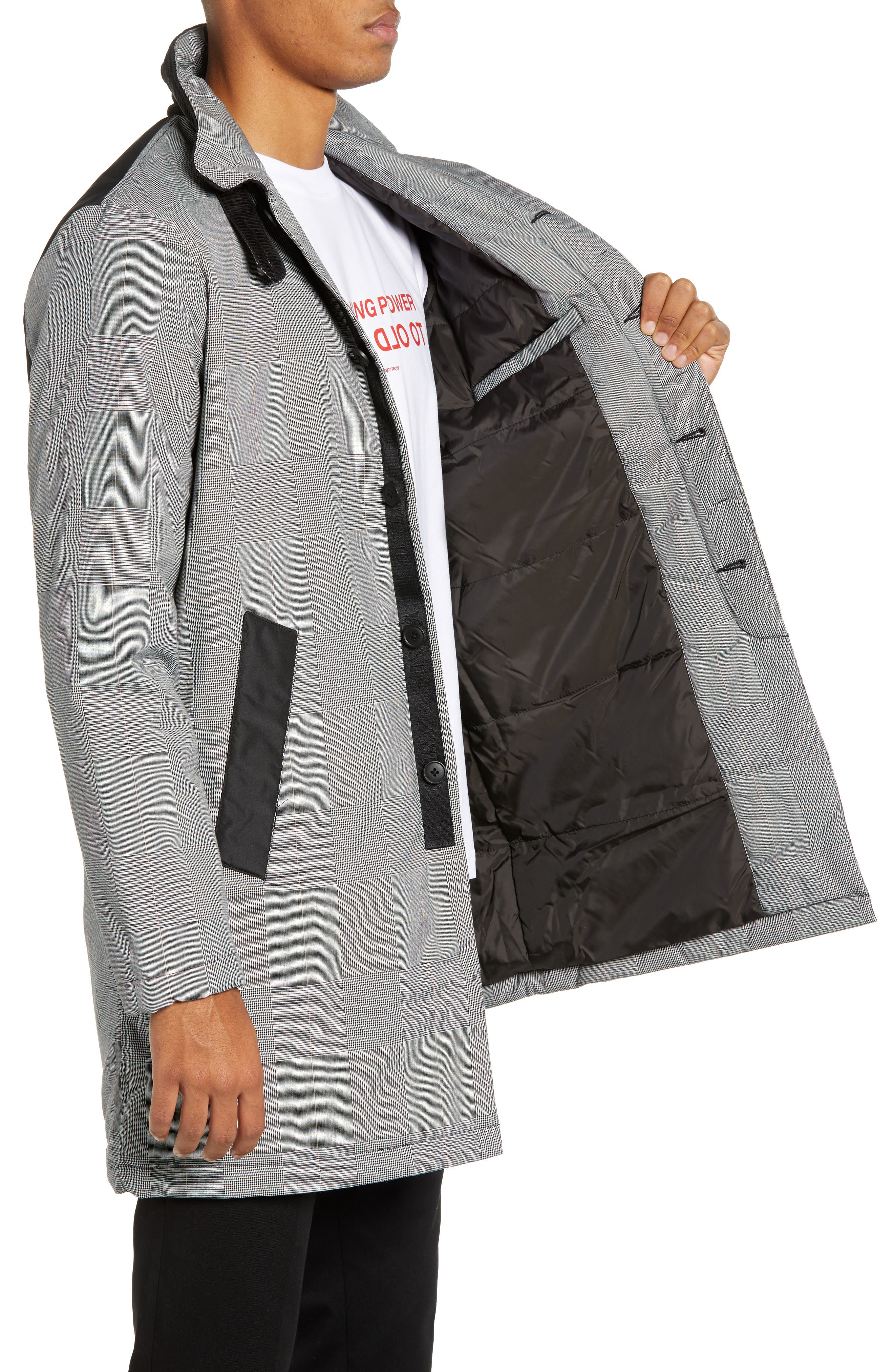The Padded Regular Fit Coat,                             Alternate thumbnail 3, color,                             ASSORTED COLORS