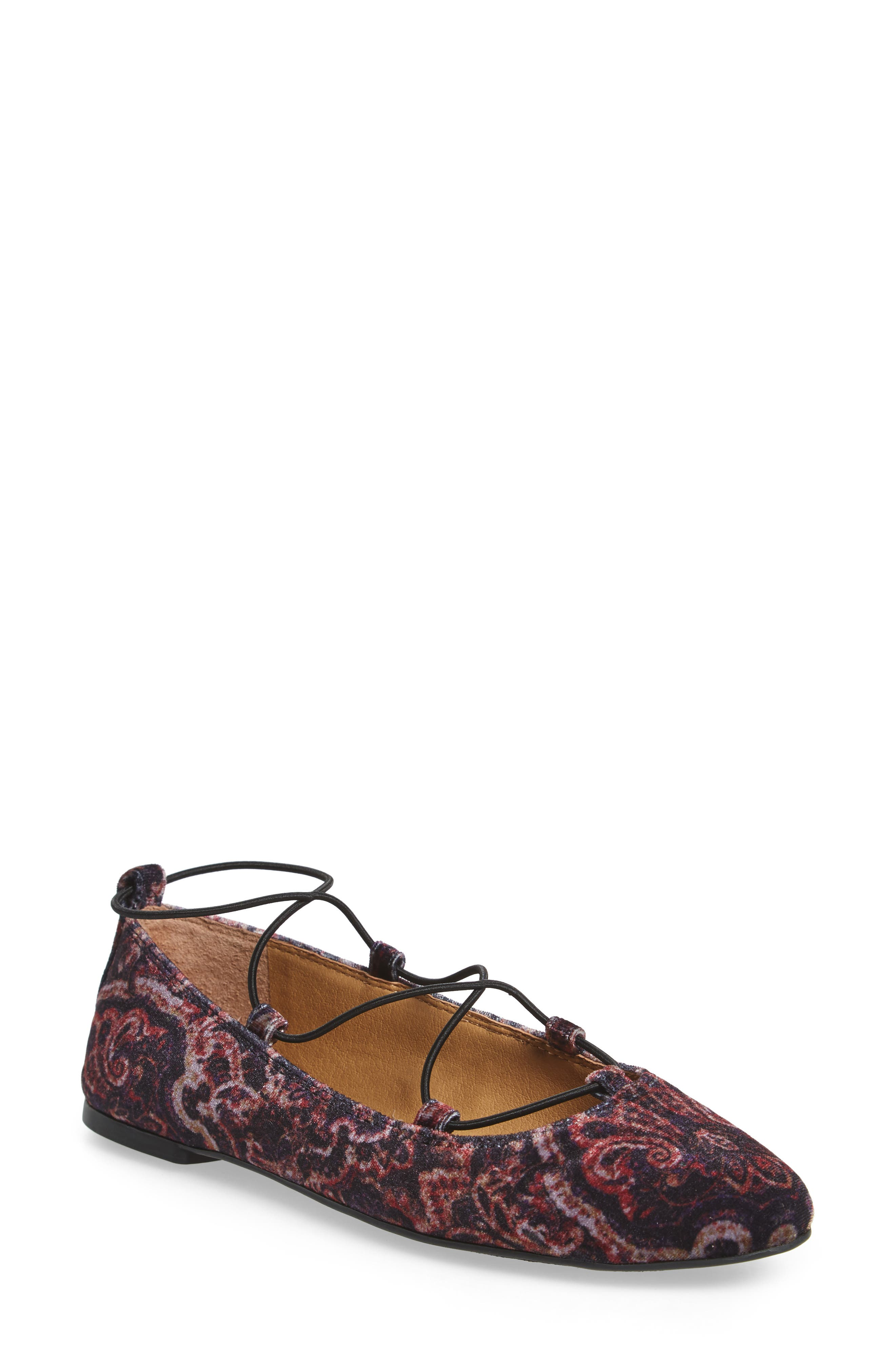 'Aviee' Lace-Up Flat,                             Main thumbnail 2, color,