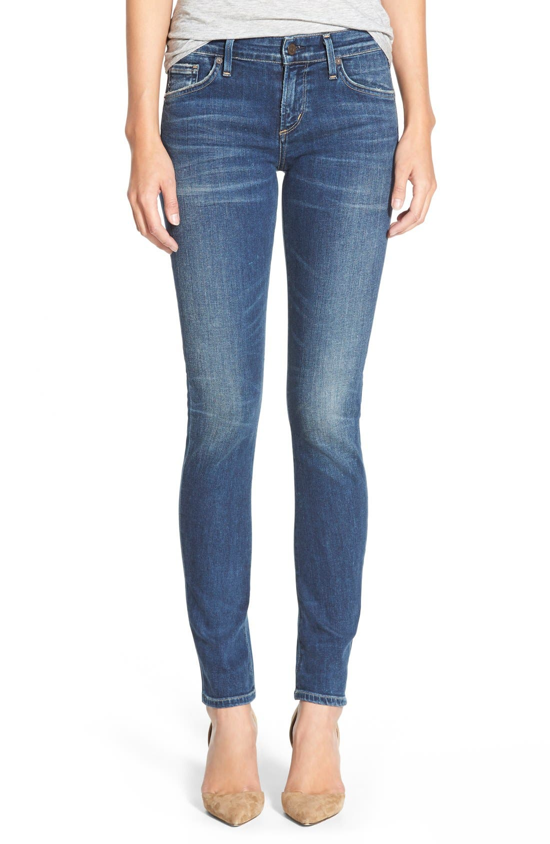 'Arielle' Skinny Jeans,                             Main thumbnail 1, color,                             400