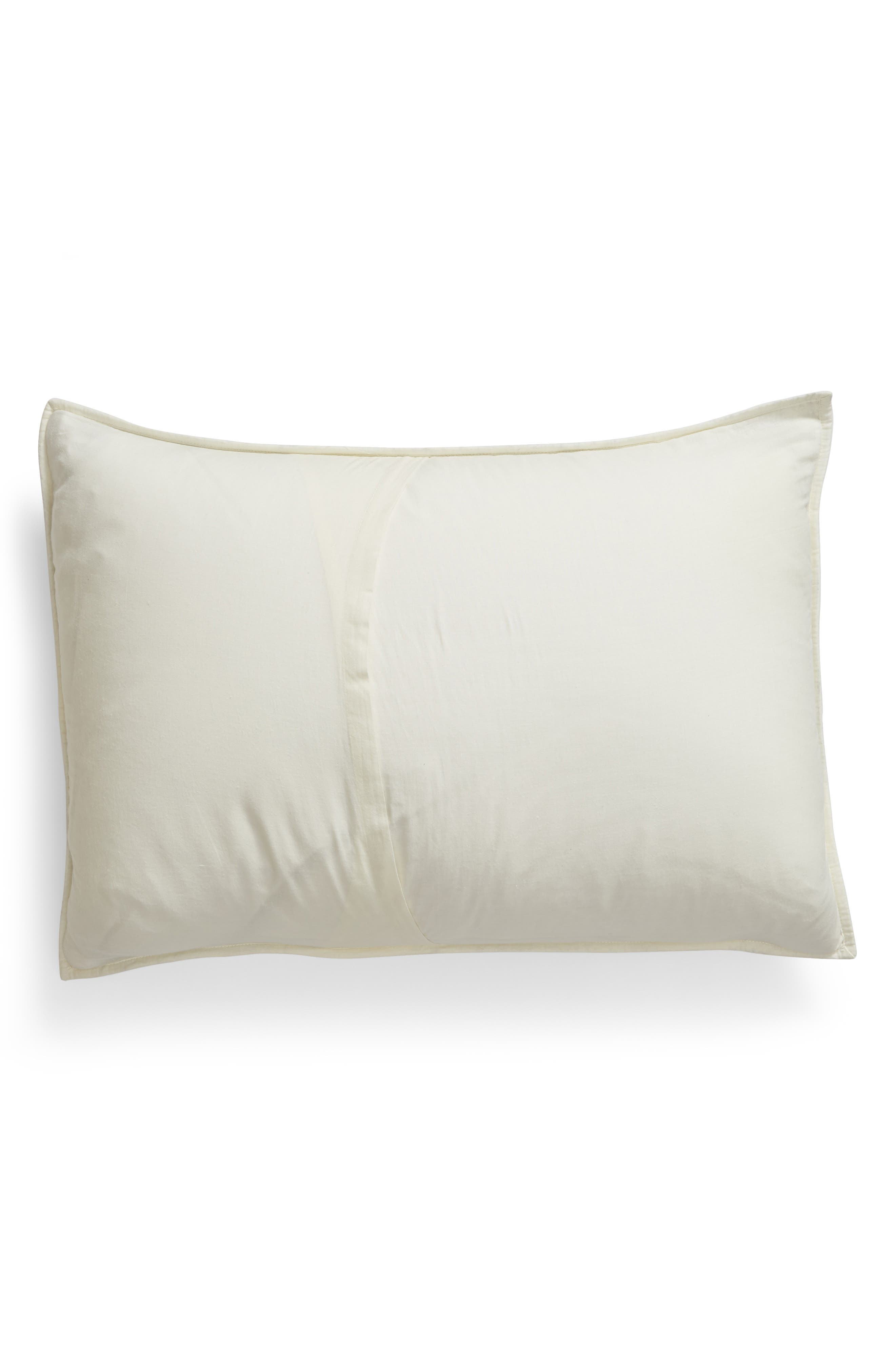 Ria Embroidered Sham,                             Alternate thumbnail 2, color,                             IVORY