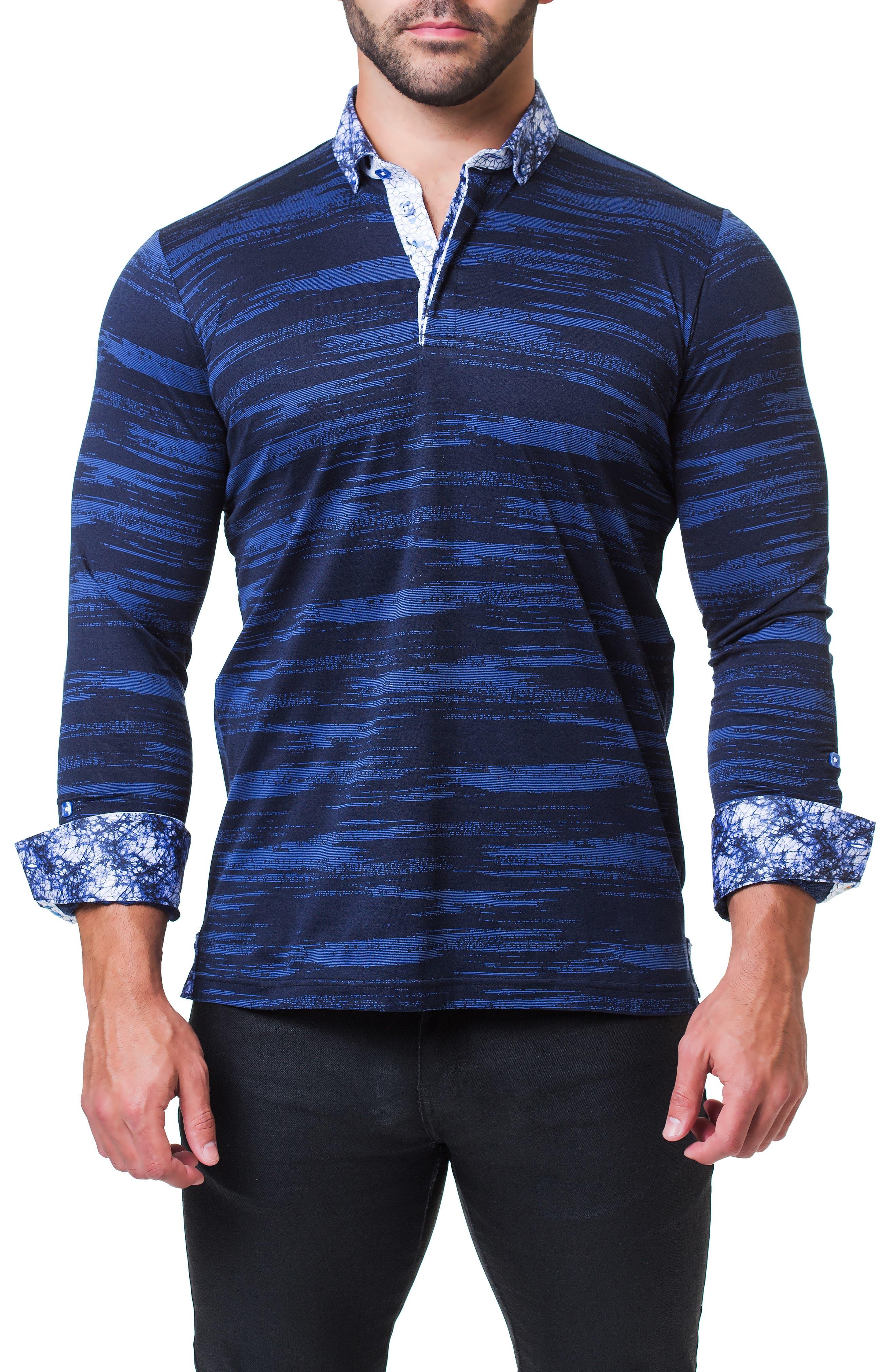 Newton Trim Fit Long Sleeve Polo,                             Alternate thumbnail 4, color,                             BLACK