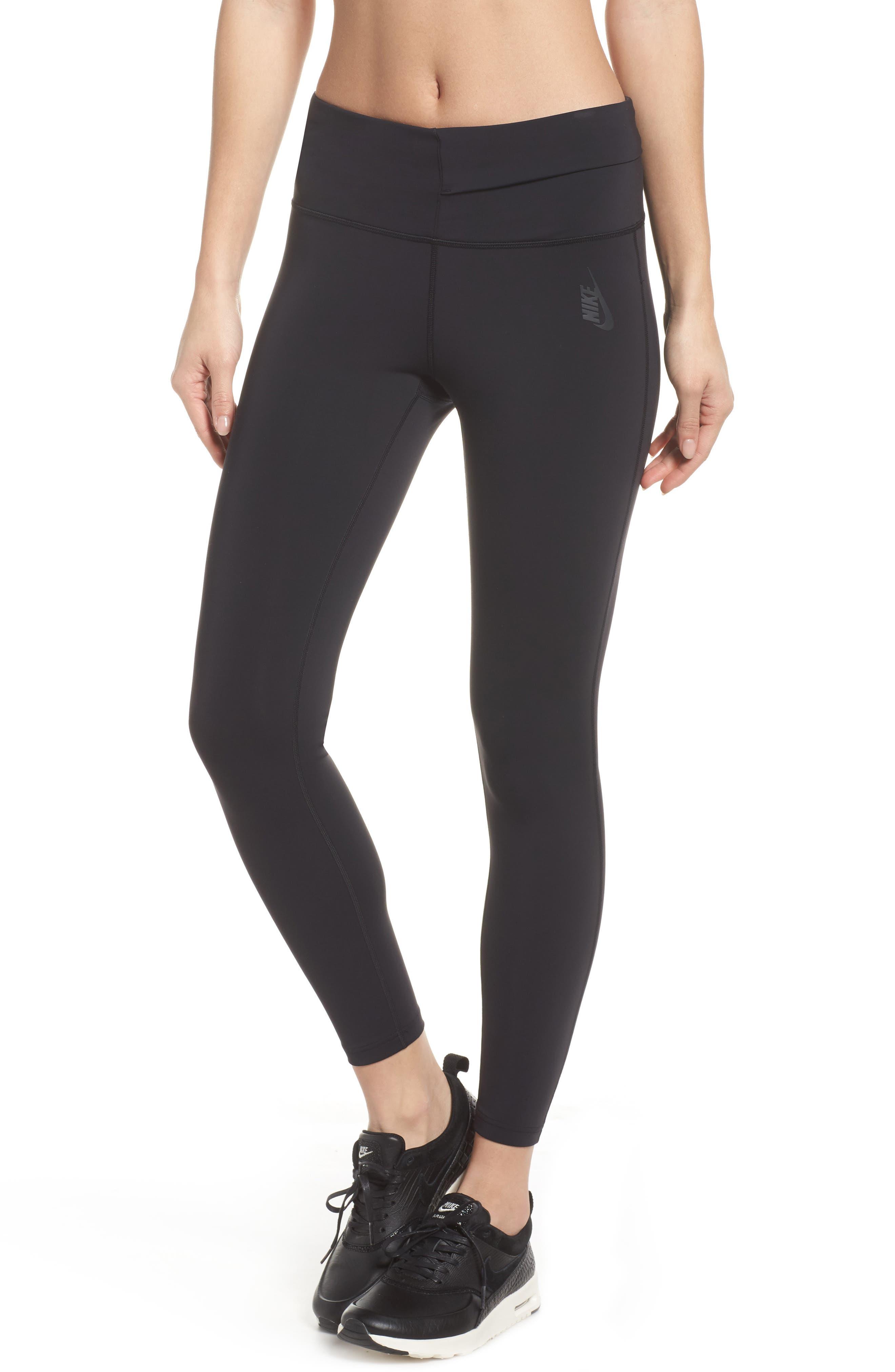 NikeLab Women's Tights,                         Main,                         color, BLACK/ BLACK