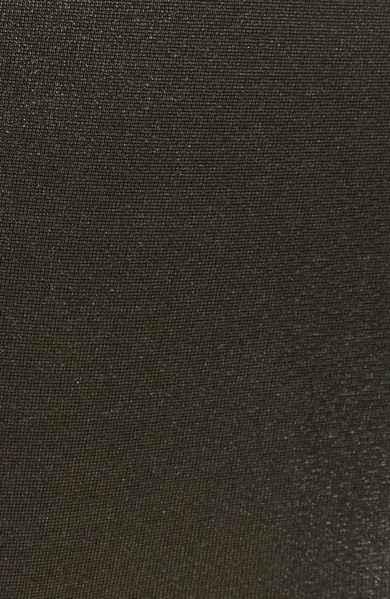 Faux Leather Leggings,                             Alternate thumbnail 6, color,                             DEEP OLIVE