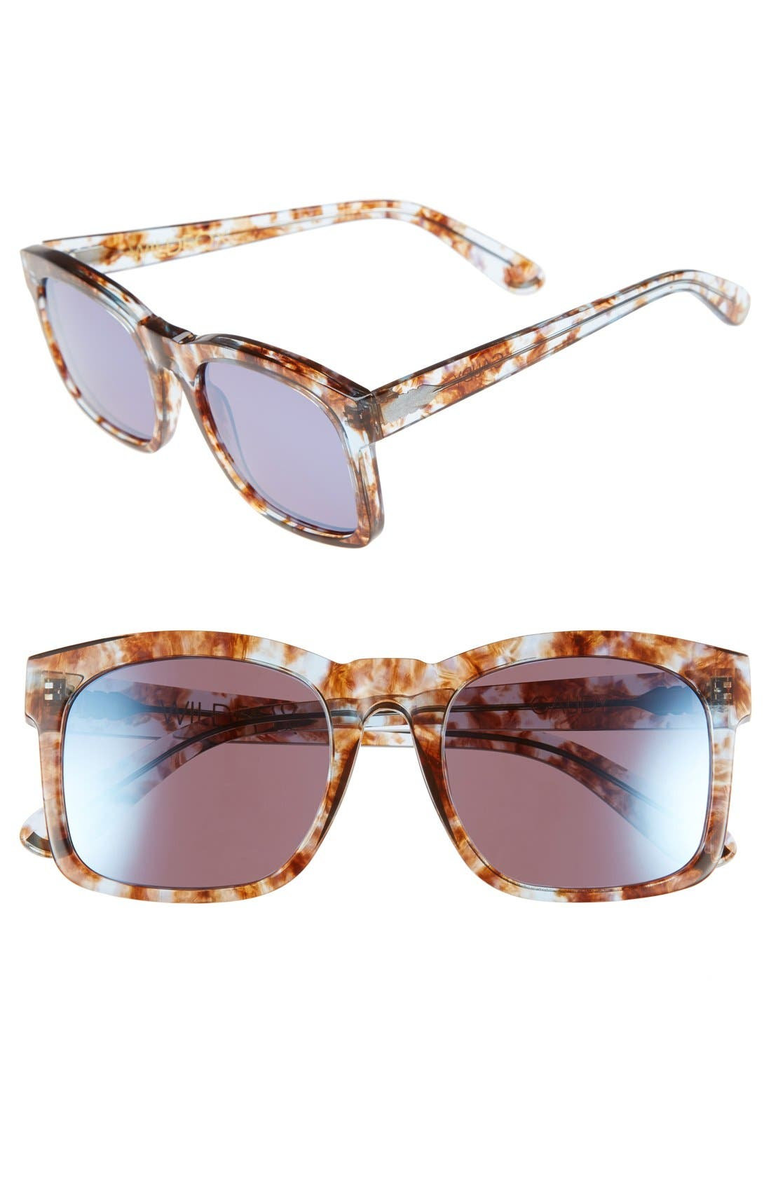 'Gaudy Deluxe' 55mm Sunglasses, Main, color, 200