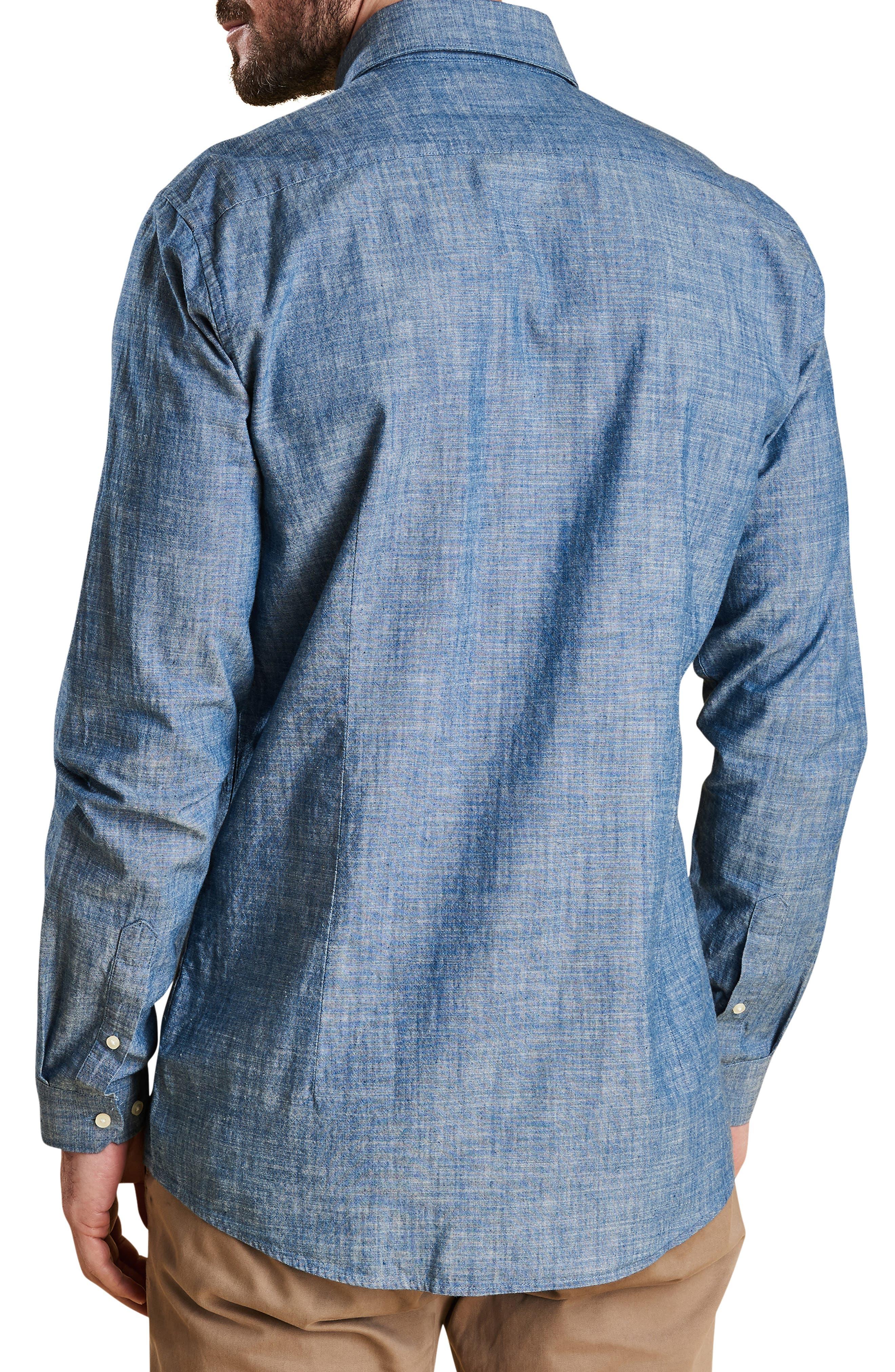 Highfield Chambray Shirt,                             Alternate thumbnail 3, color,                             INDIGO