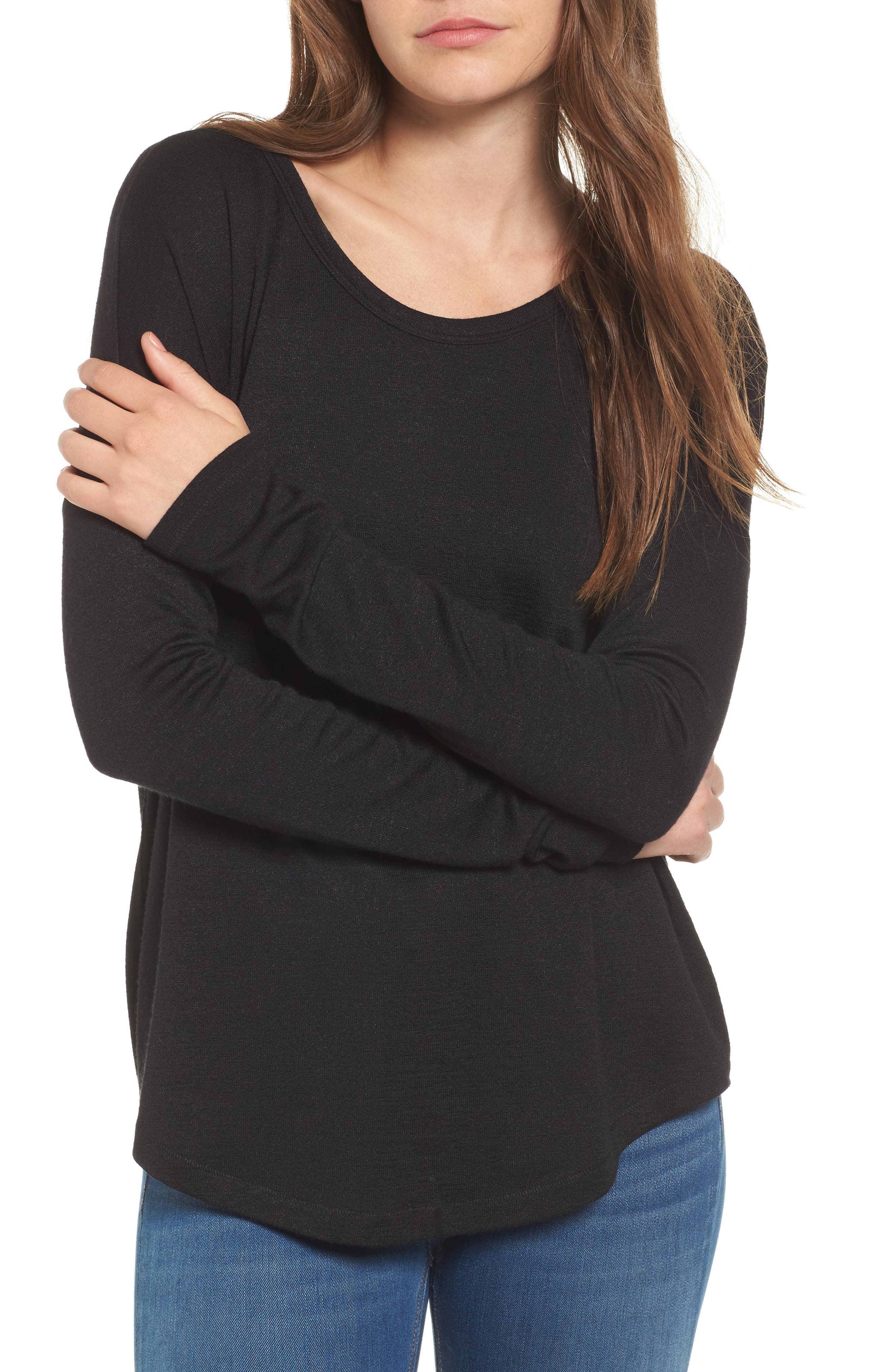 rag & bone Hudson Tee,                             Main thumbnail 1, color,                             BLACK
