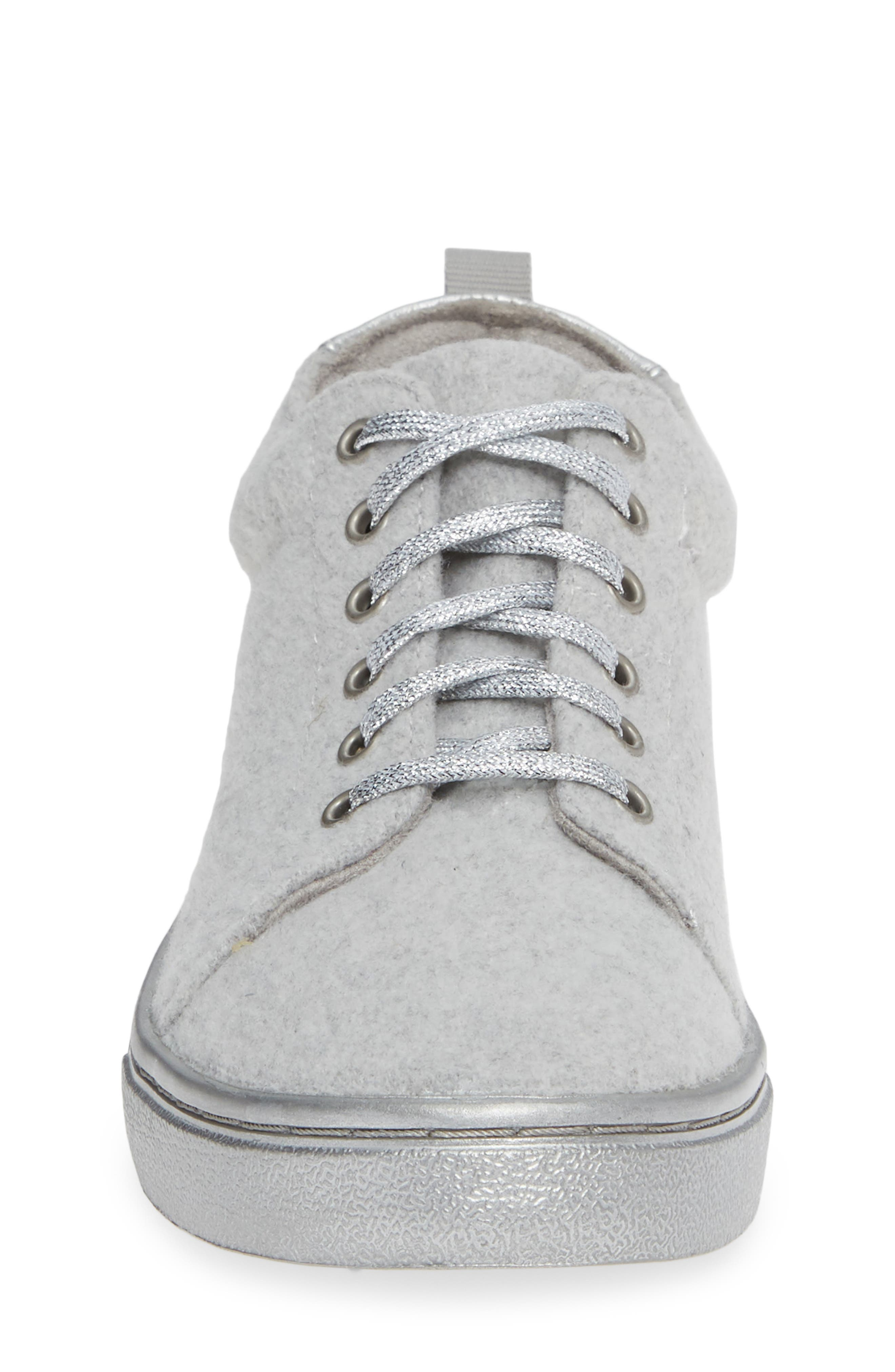 Lenny Mid Top Sneaker,                             Alternate thumbnail 4, color,                             DRIZZLE GREY FELT