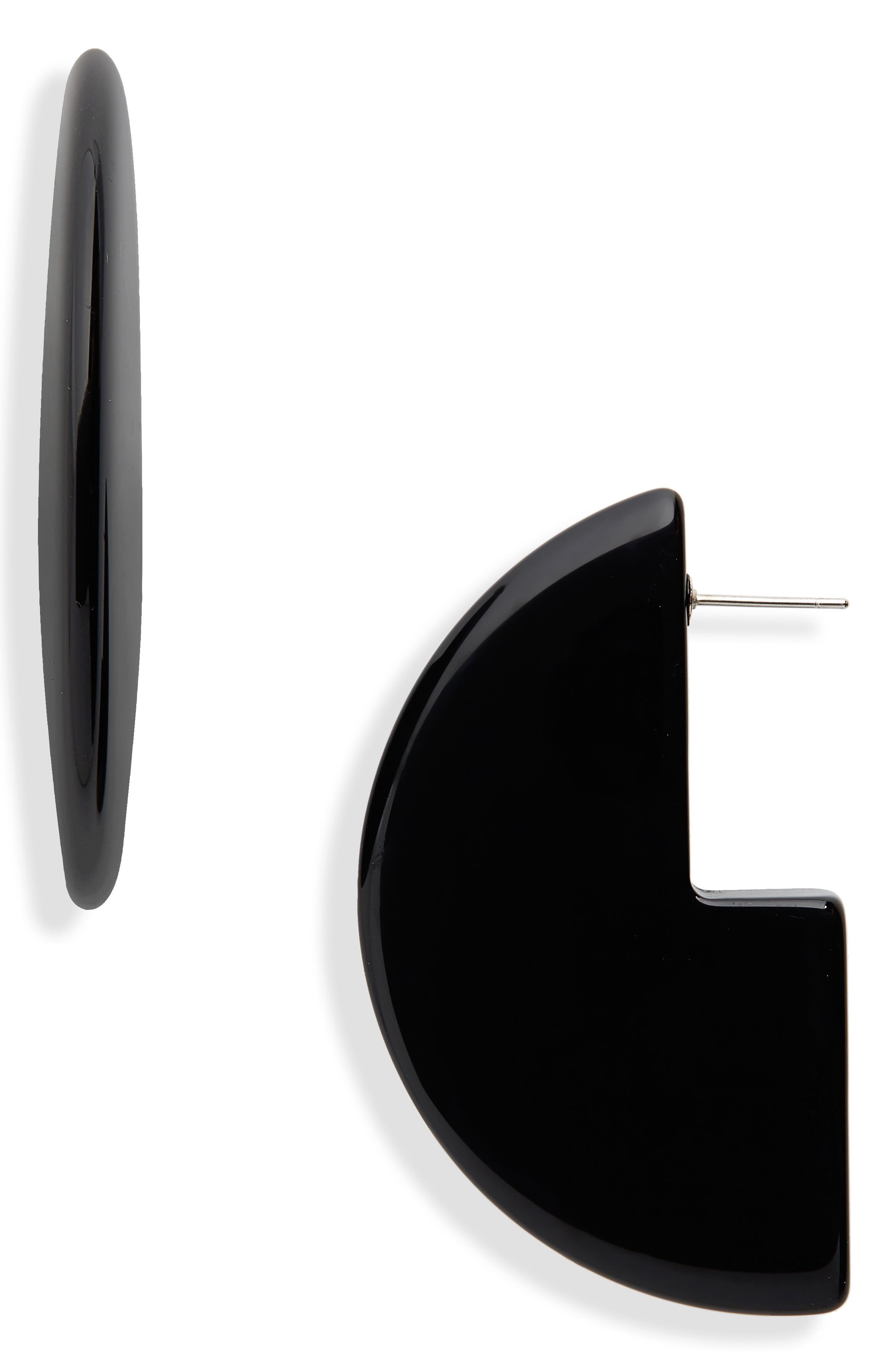 Kip Drop Earrings,                             Main thumbnail 1, color,                             BLACK