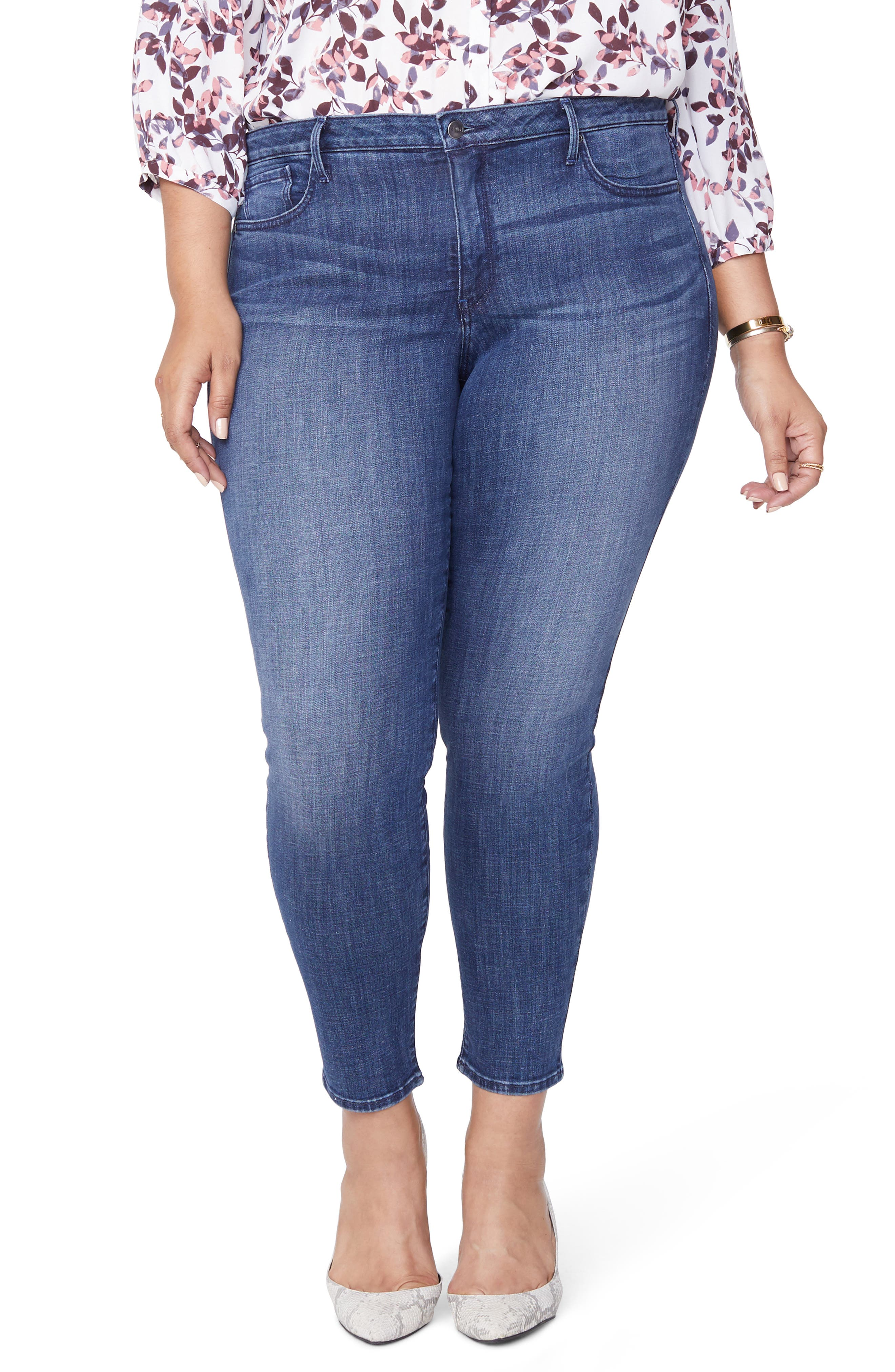 Ami Skinny Jeans,                         Main,                         color, LUPINE