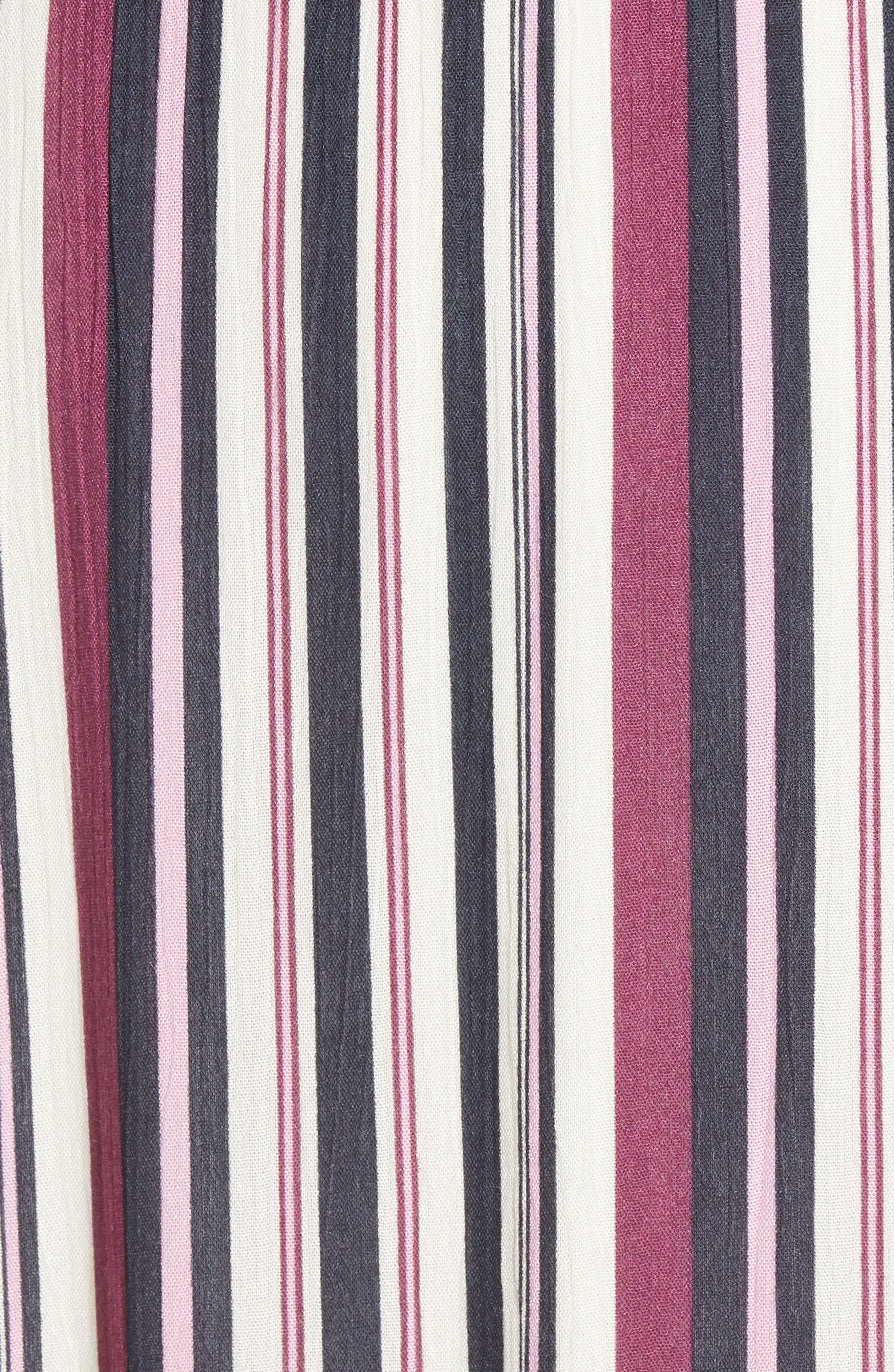Tie Sleeve Maxi Dress,                             Alternate thumbnail 6, color,                             MULTI STRIPE
