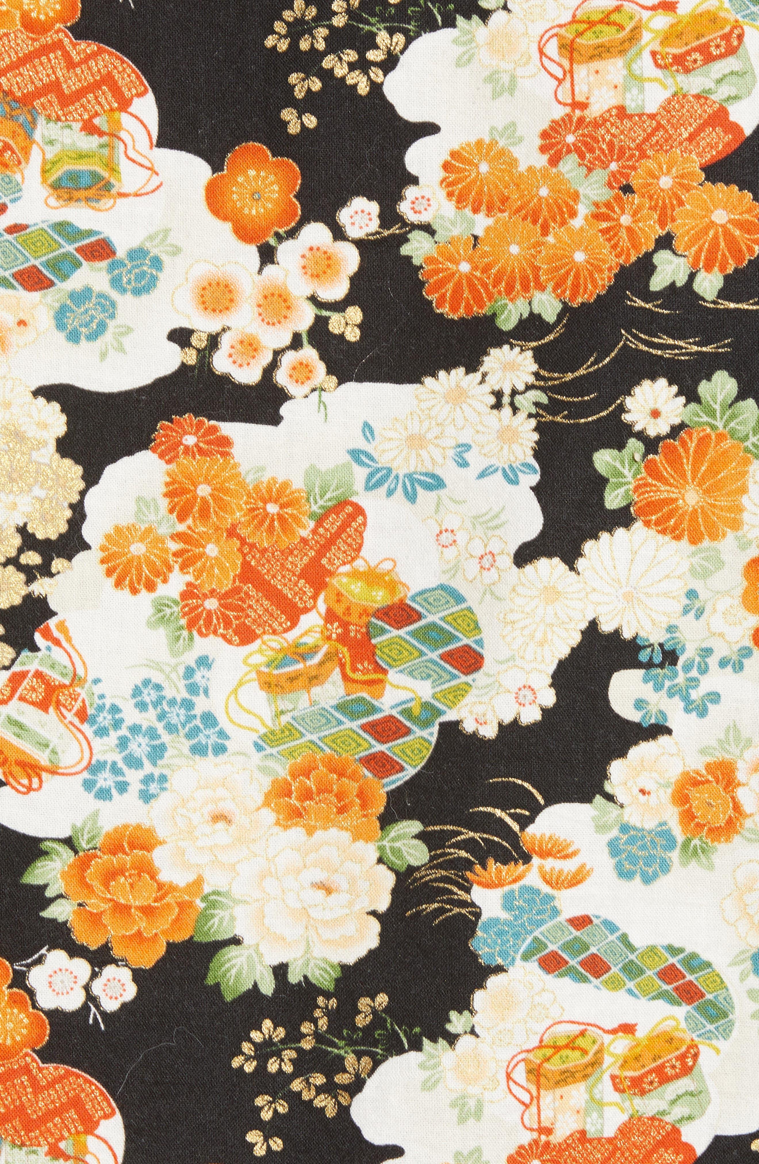 Japanese Aloha Festival Woven Shirt,                             Alternate thumbnail 5, color,                             001