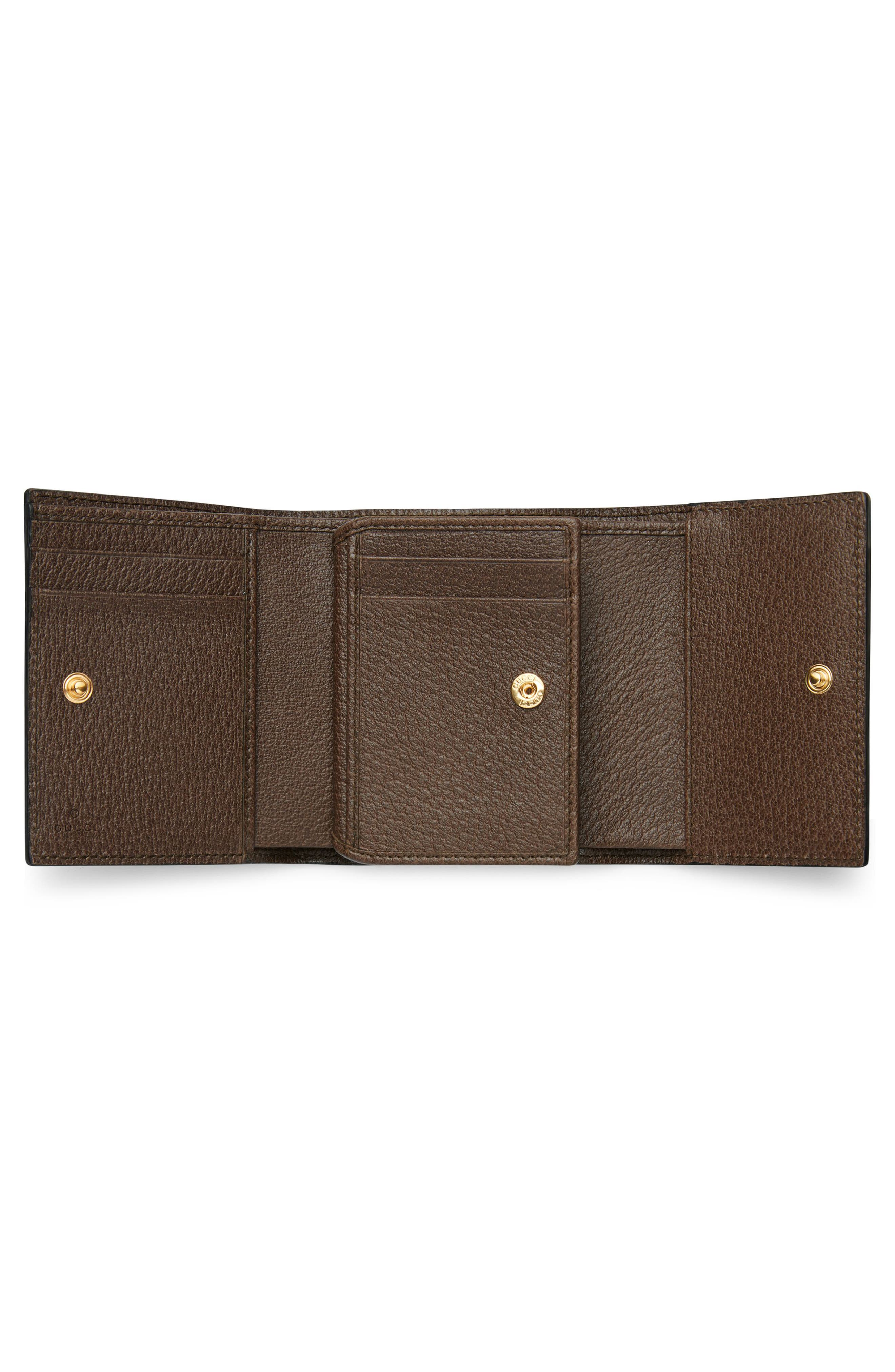 Ophidia GG Supreme French Wallet,                             Alternate thumbnail 4, color,                             BEIGE EBONY/ ACERO/ VERT RED