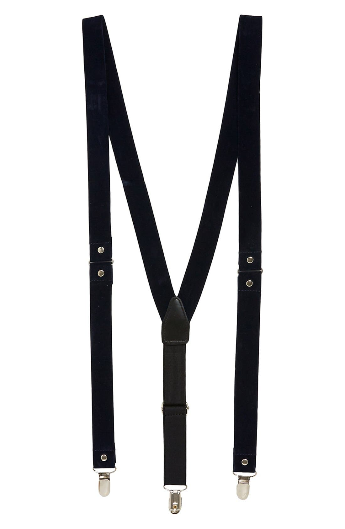 Blue Velvet Suspenders, Main, color, 410