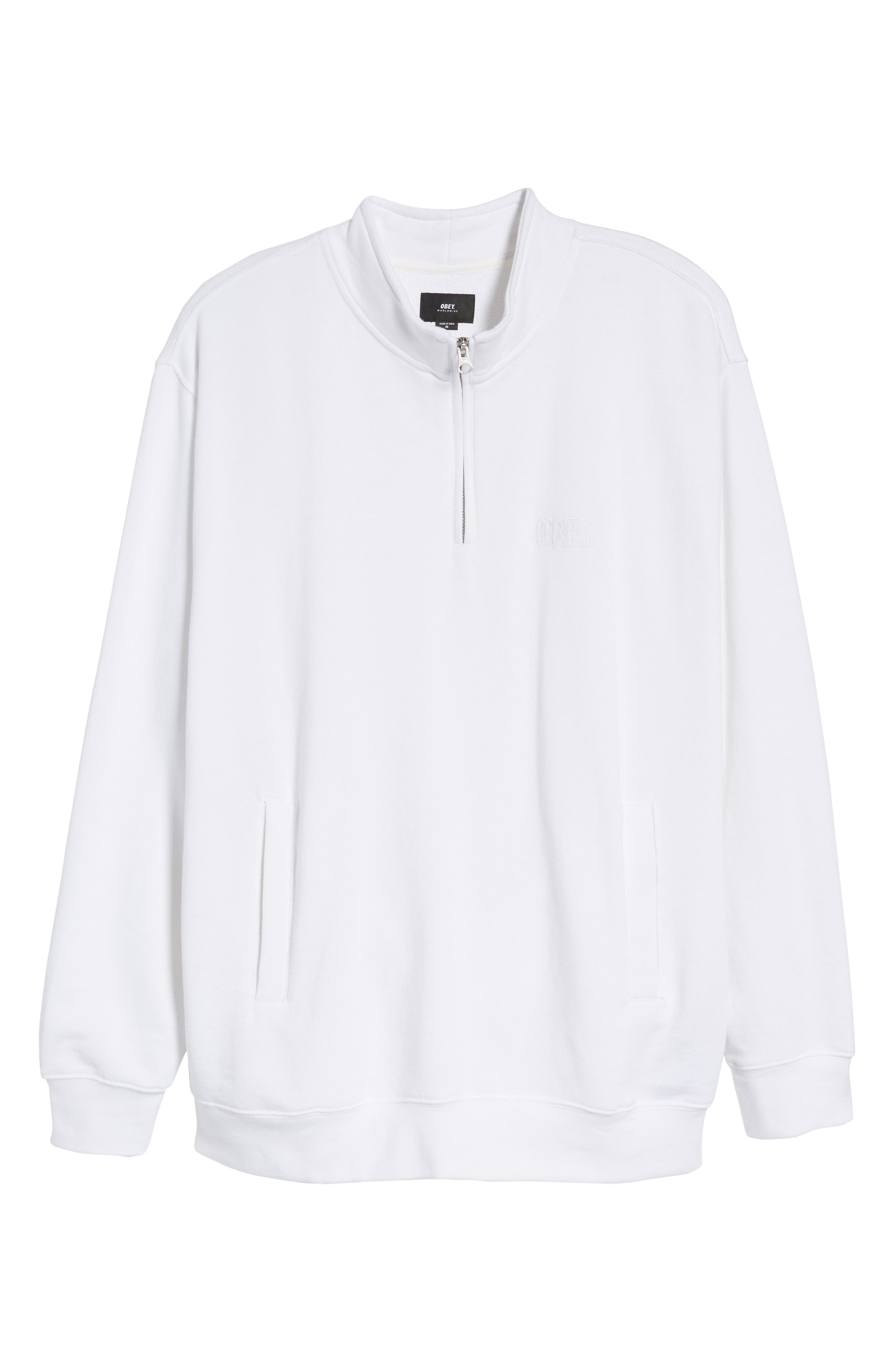 Atomatic Quarter-Zip Fleece Pullover,                             Alternate thumbnail 6, color,                             100