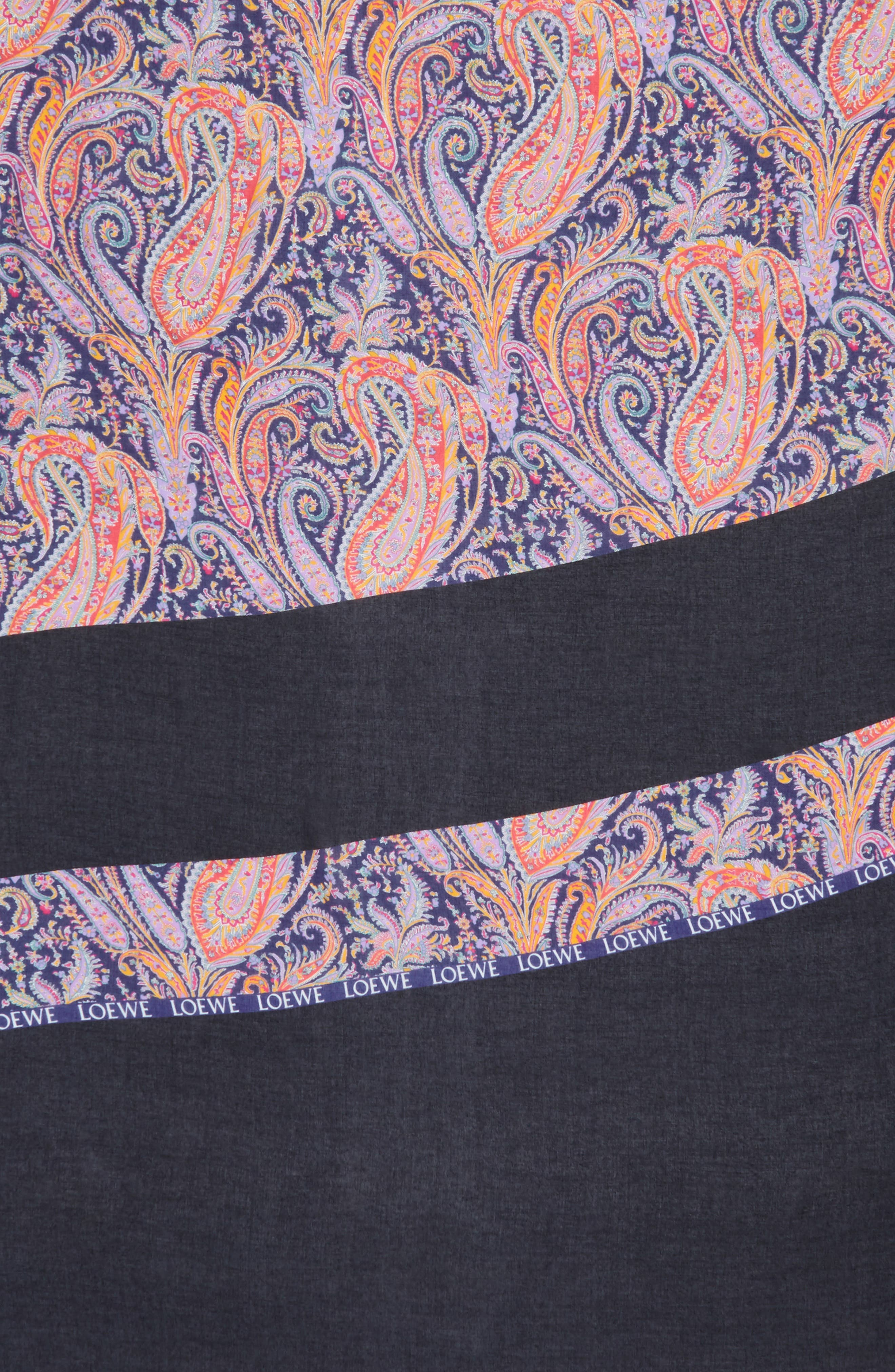 LOEWE,                             Liberty Stripe Paisley Scarf,                             Alternate thumbnail 4, color,                             MULTICOLOR