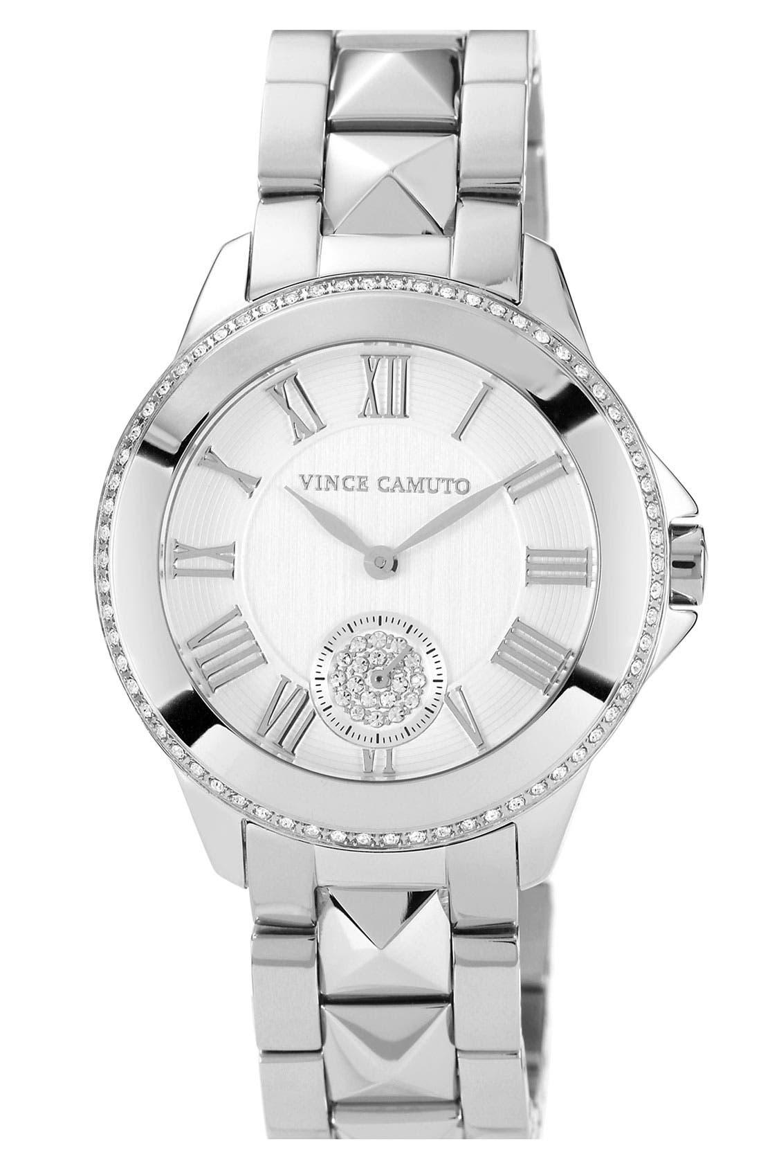 VINCE CAMUTO,                             Pyramid Bracelet Watch, 38mm,                             Main thumbnail 1, color,                             040