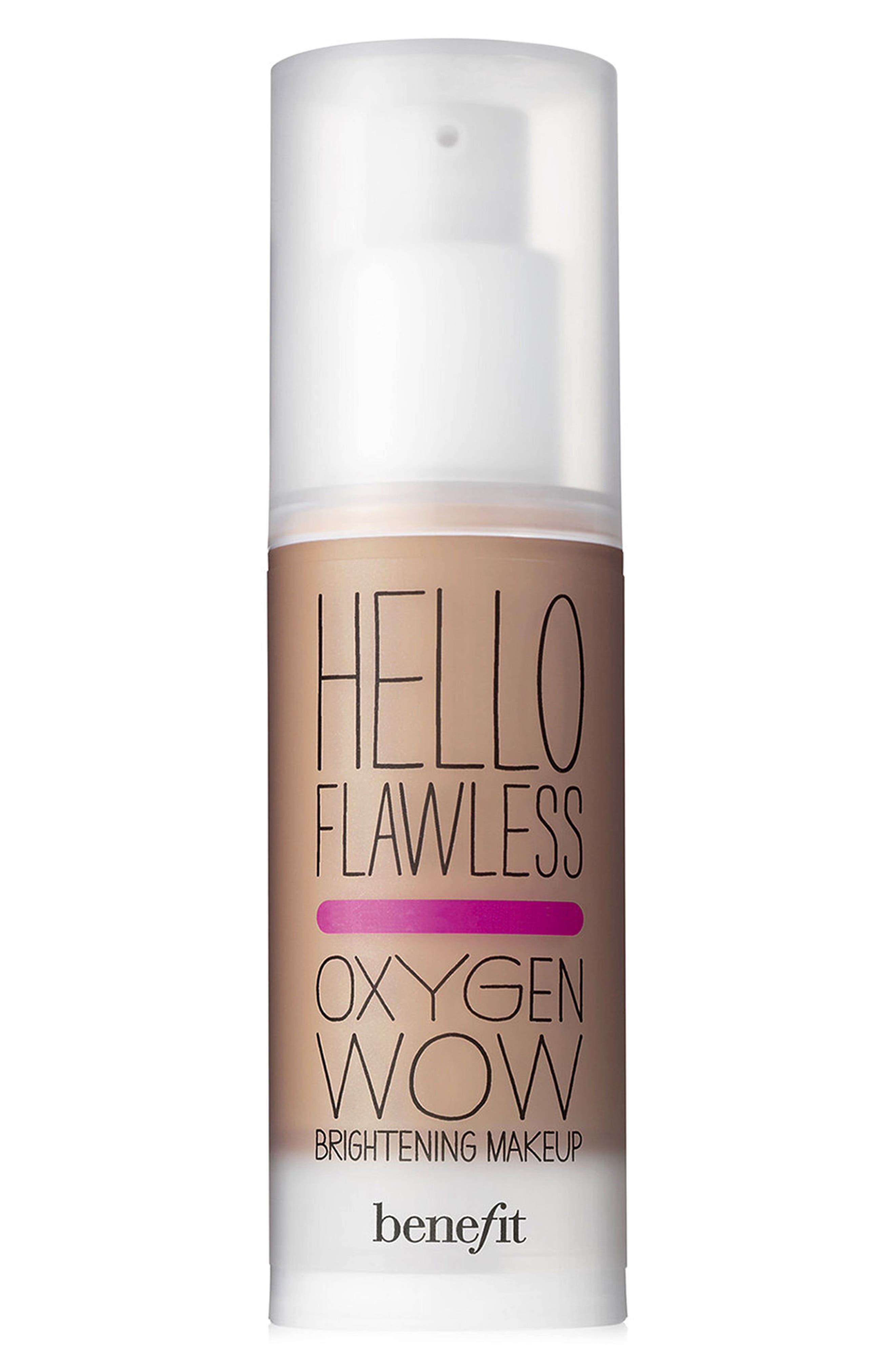 Benefit Hello Flawless! Oxygen Wow Liquid Foundation,                             Main thumbnail 1, color,                             AMBER