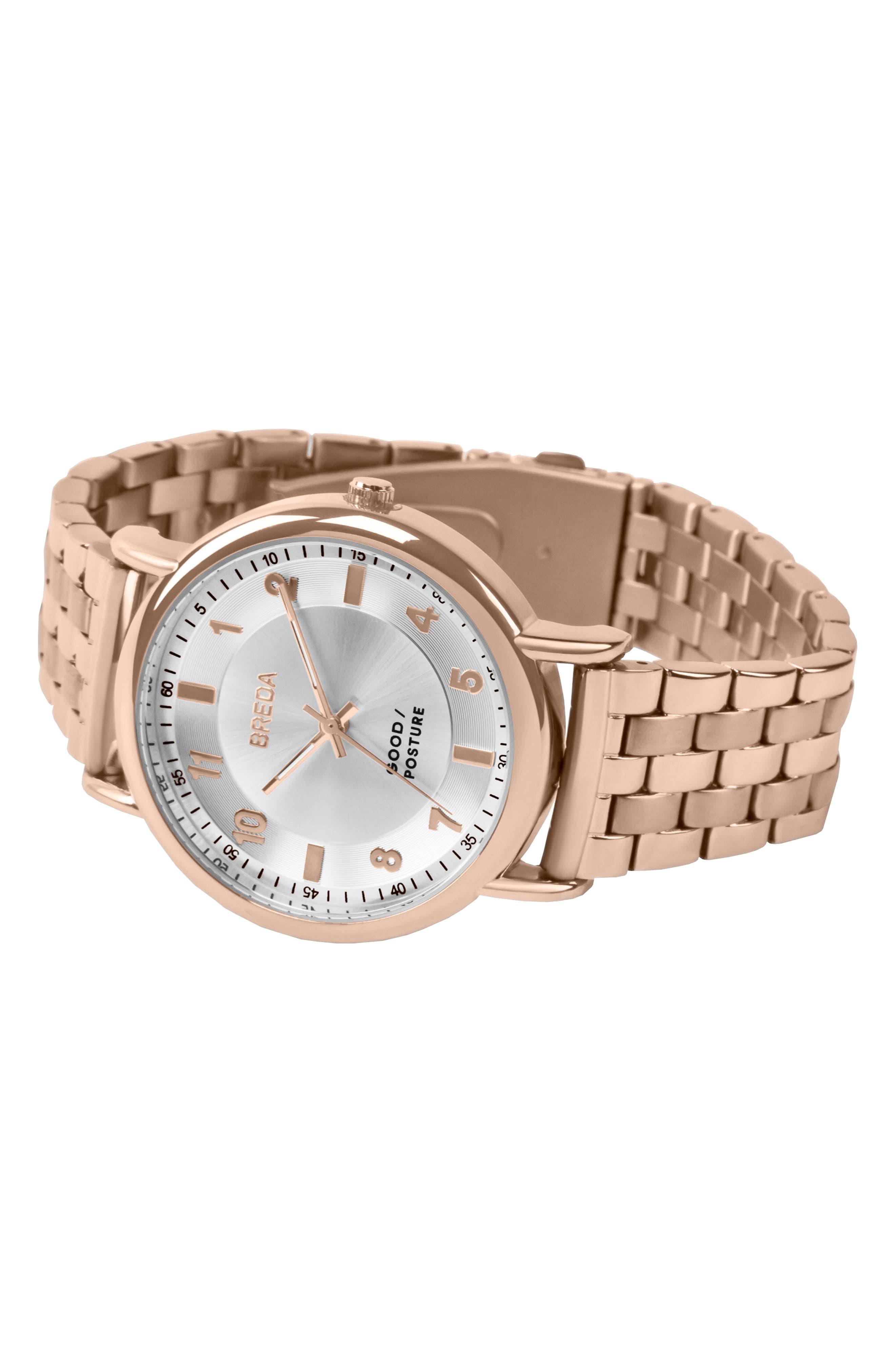 Blossom Round Bracelet Watch, 41mm,                             Alternate thumbnail 5, color,