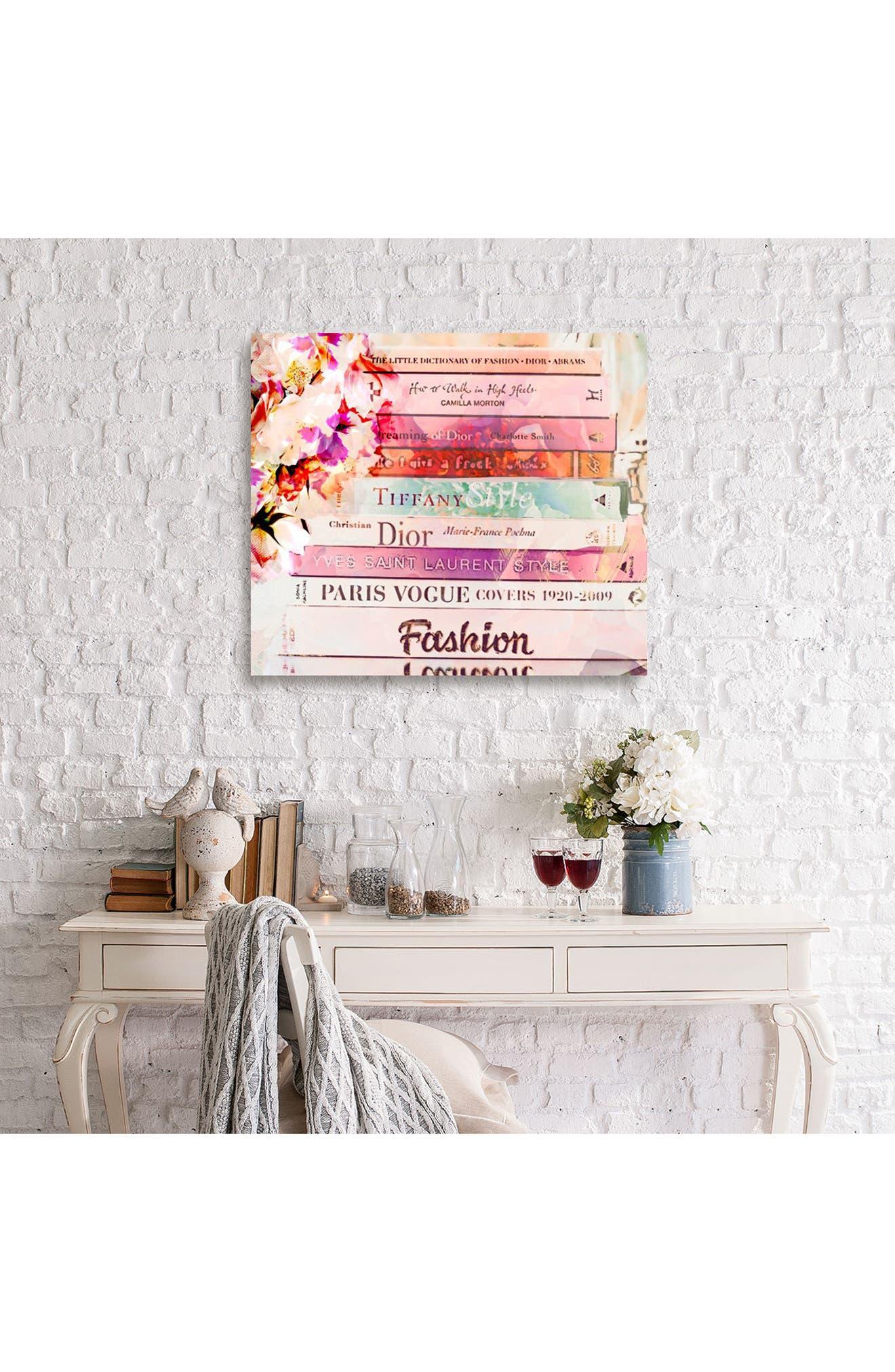 'Fashion Books' Canvas Print,                             Alternate thumbnail 4, color,