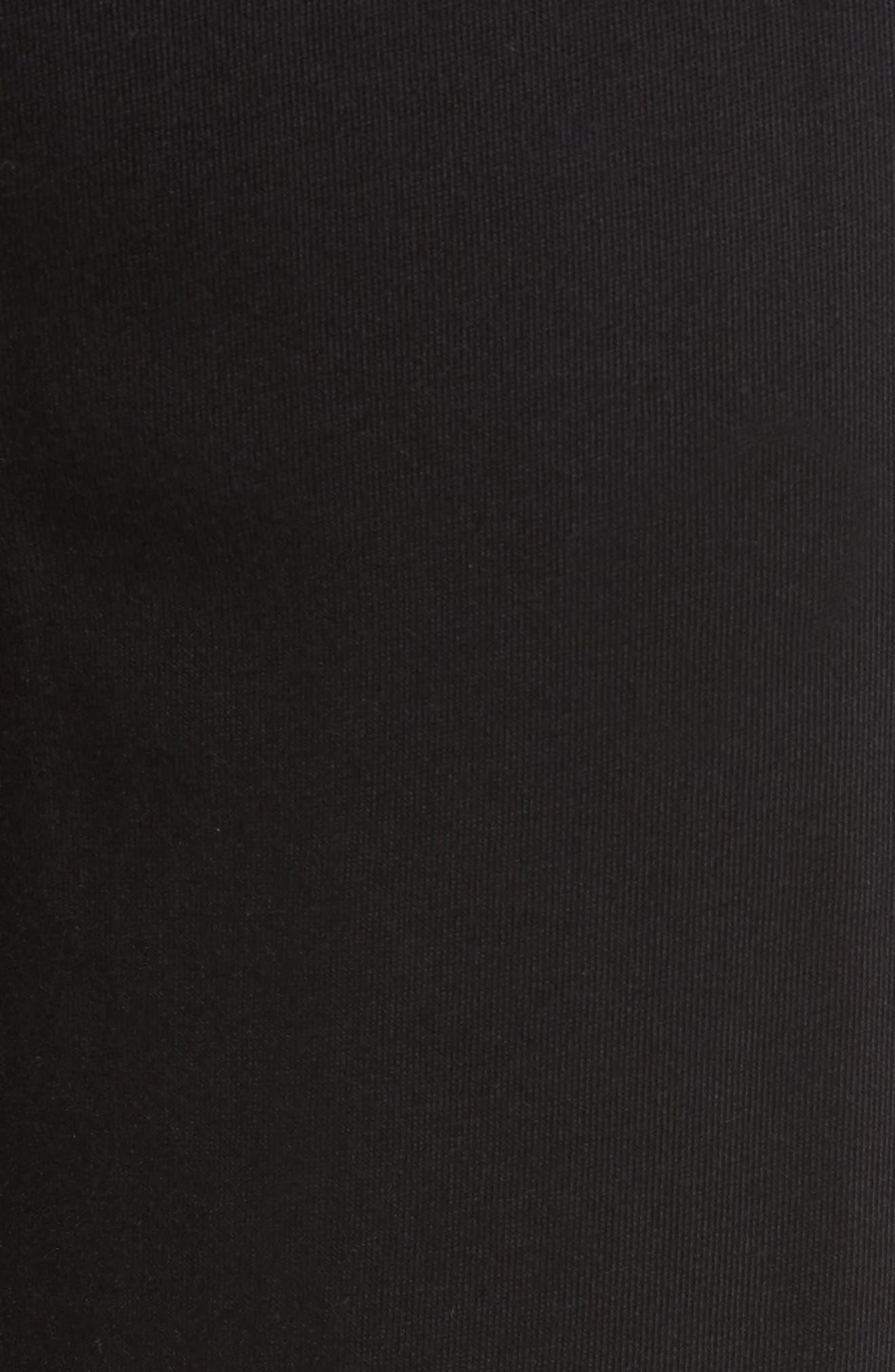 Cotton & Modal Lounge Pants,                             Alternate thumbnail 5, color,                             POLO BLACK