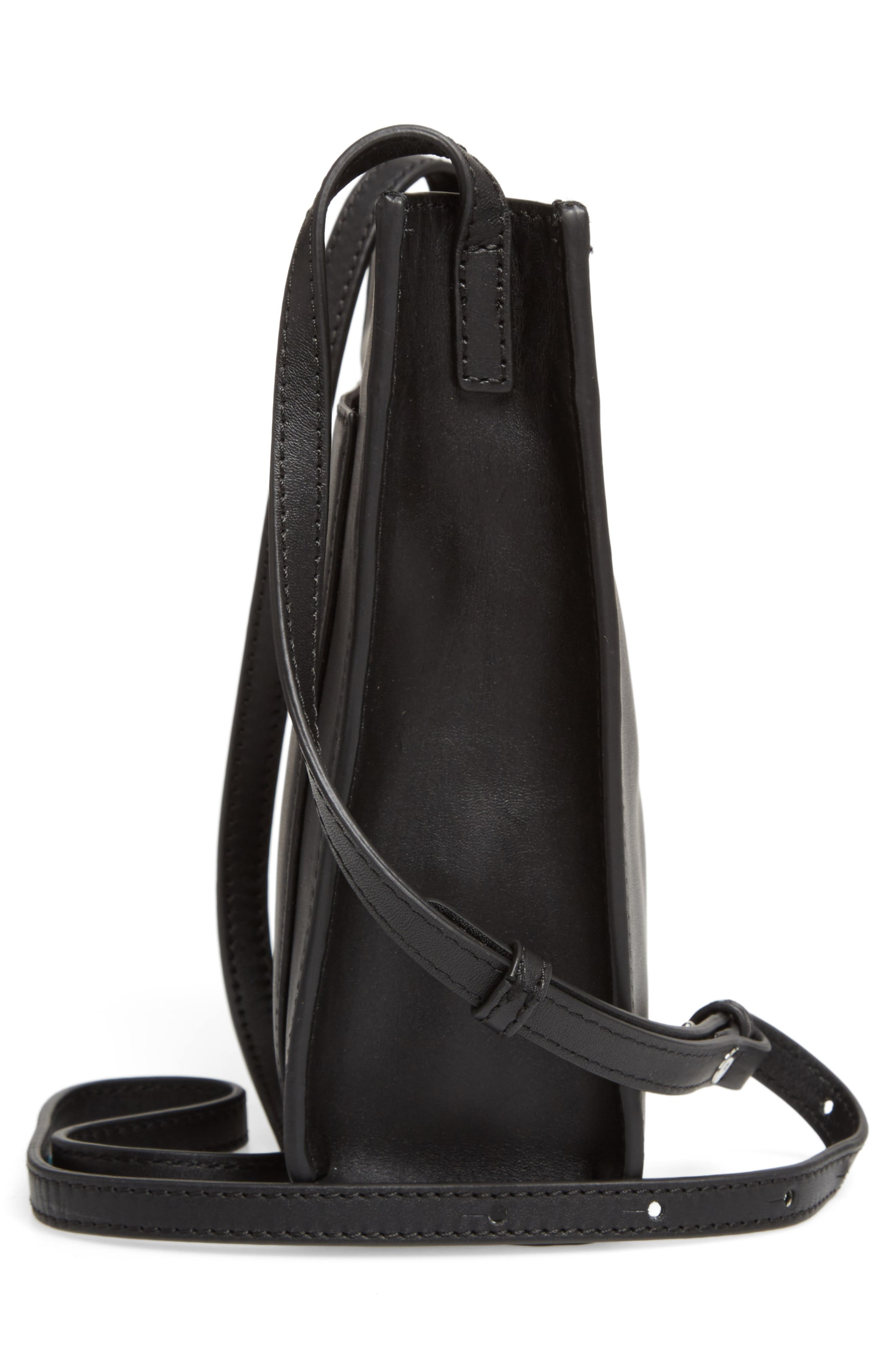 Camden Leather Crossbody Bag,                             Alternate thumbnail 5, color,                             001