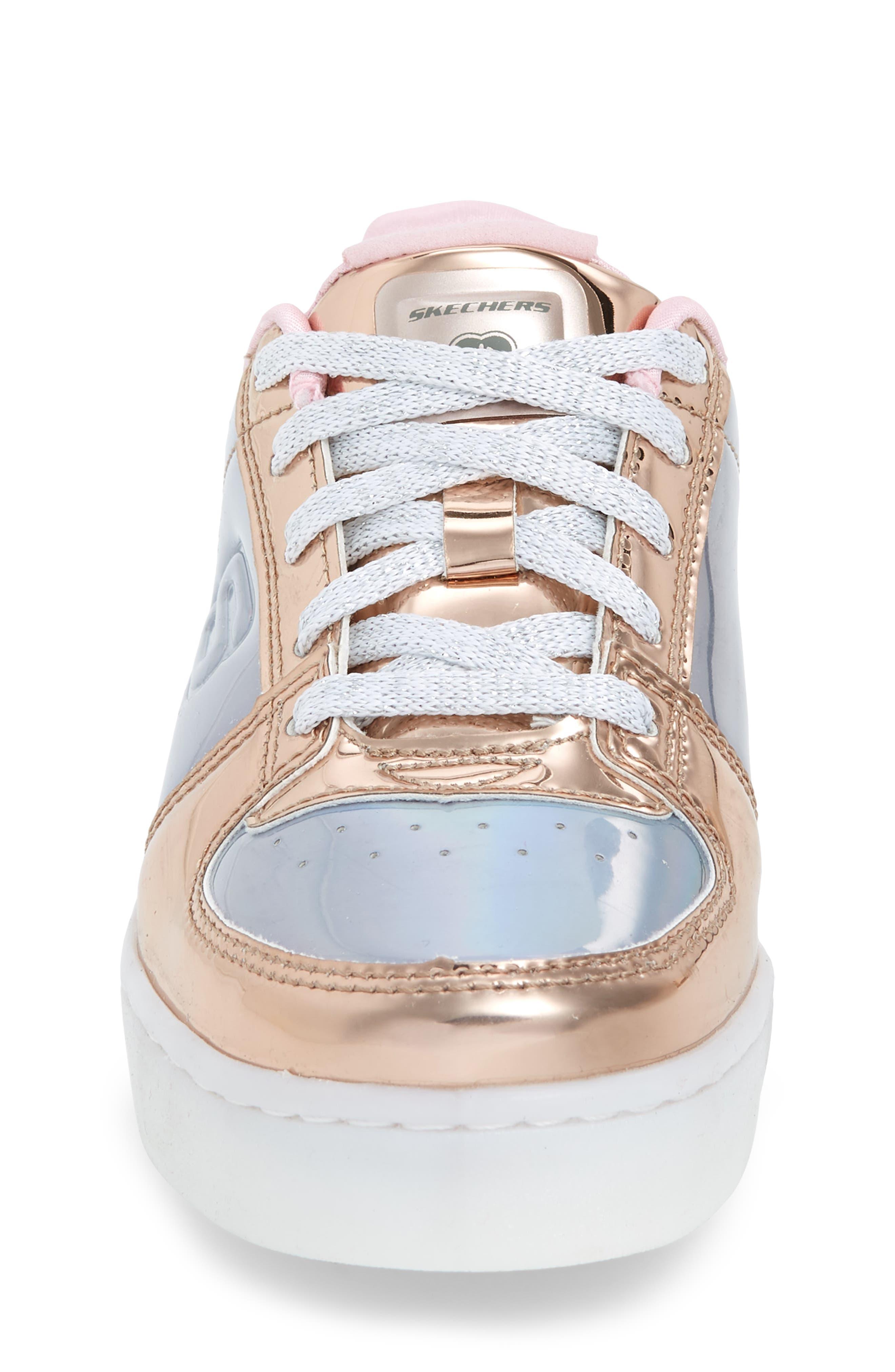 SKECHERS,                             Energy Lights Shiny Light-Up Sneaker,                             Alternate thumbnail 4, color,                             222