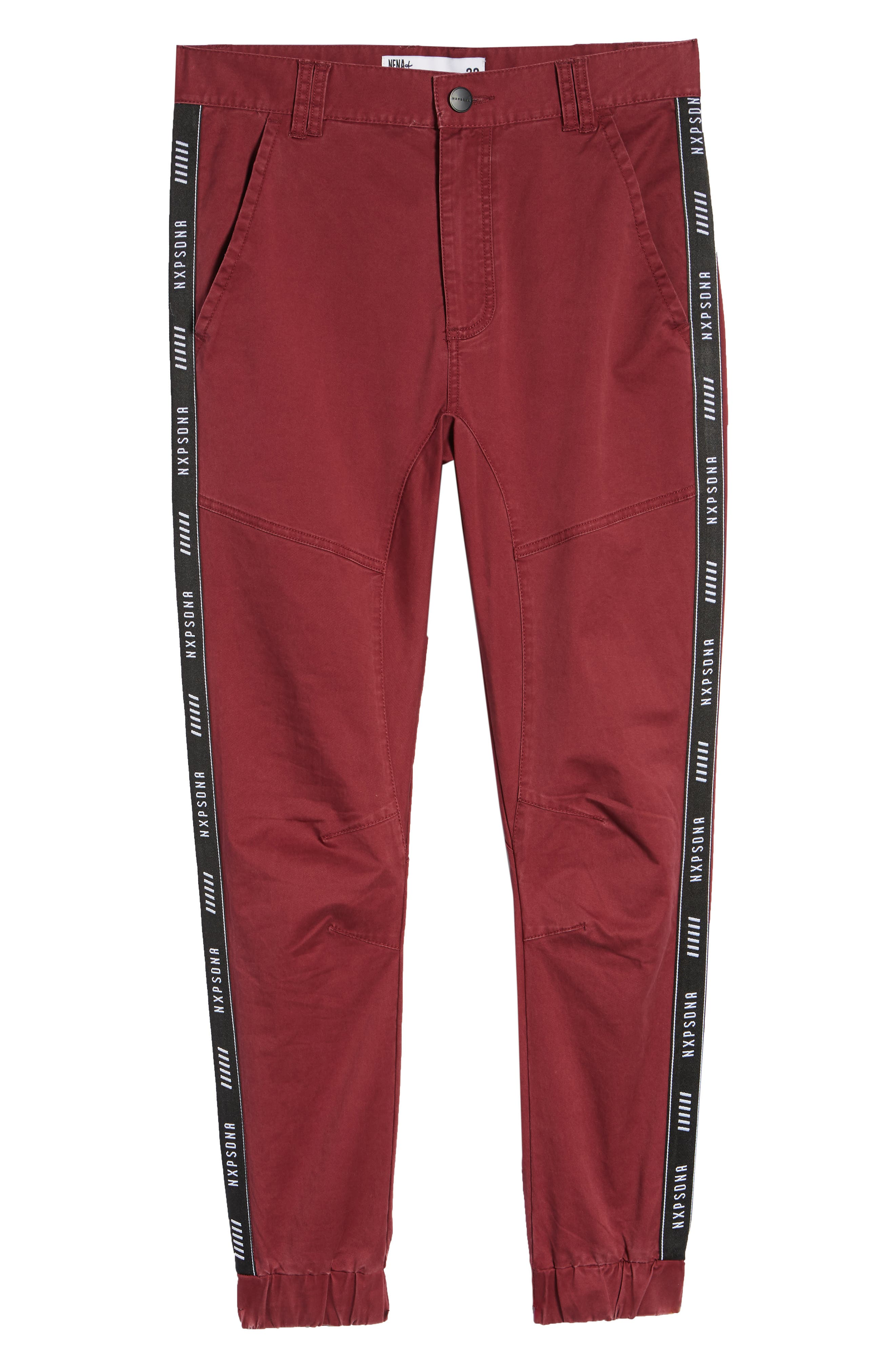 Firebrand Taped Chinos,                             Alternate thumbnail 6, color,                             BORDEAUX