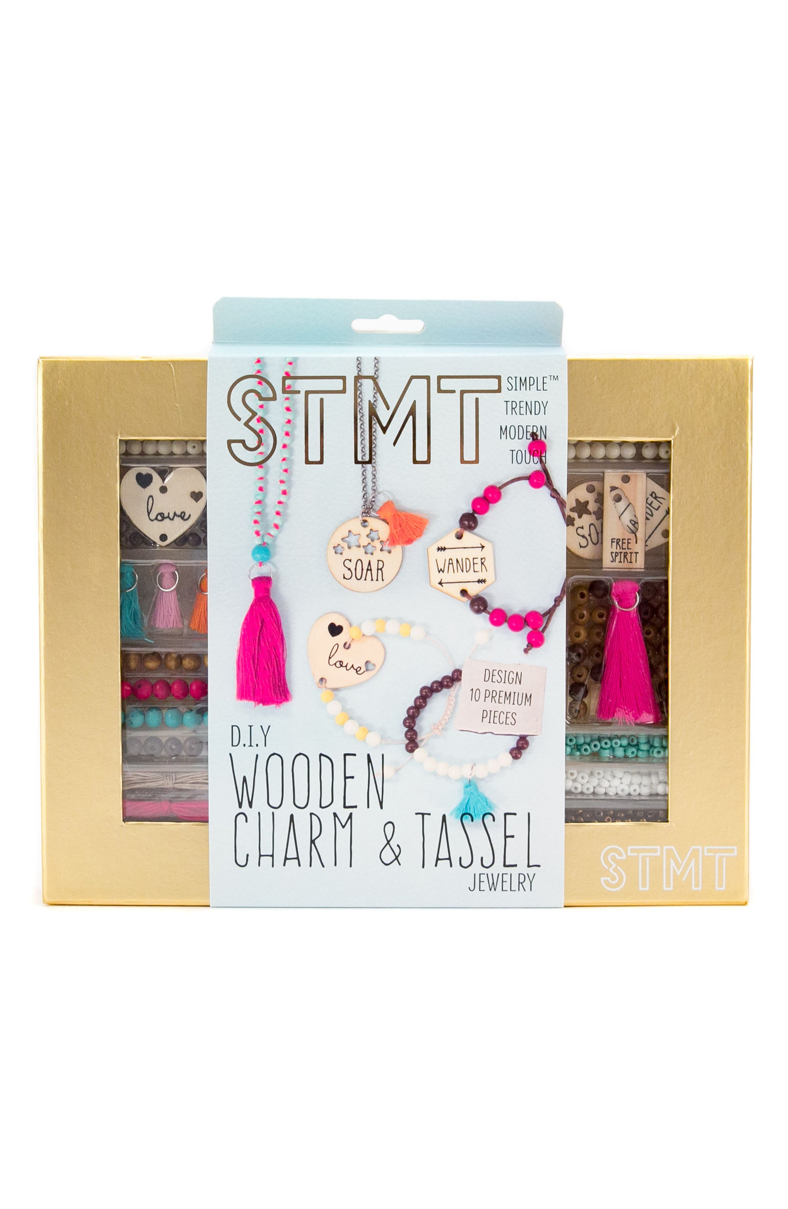 DIY Wooden Charm & Tassel Jewlery Kit,                         Main,                         color, 710