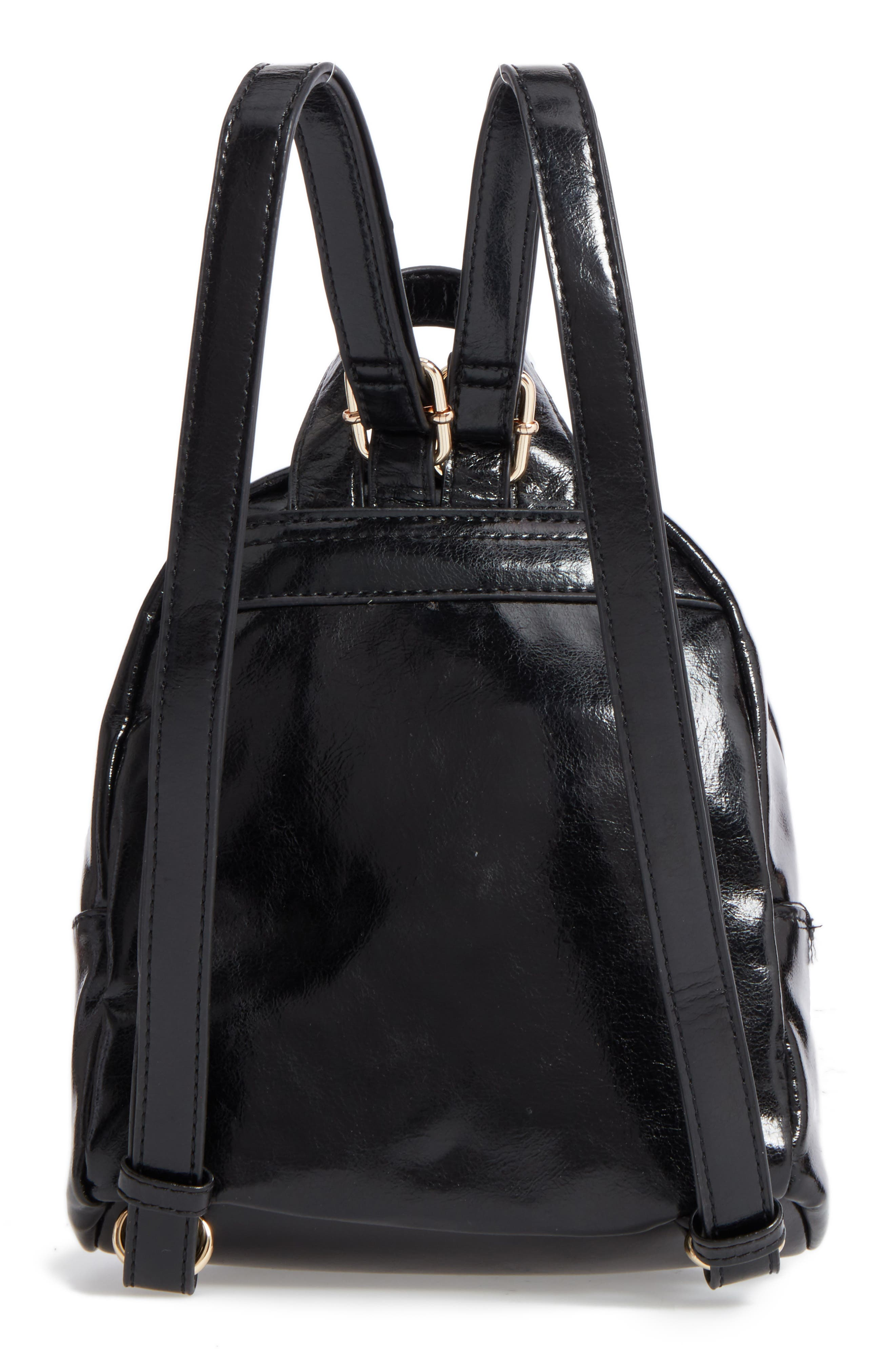 BP.,                             Faux Leather Mini Backpack,                             Alternate thumbnail 3, color,                             002