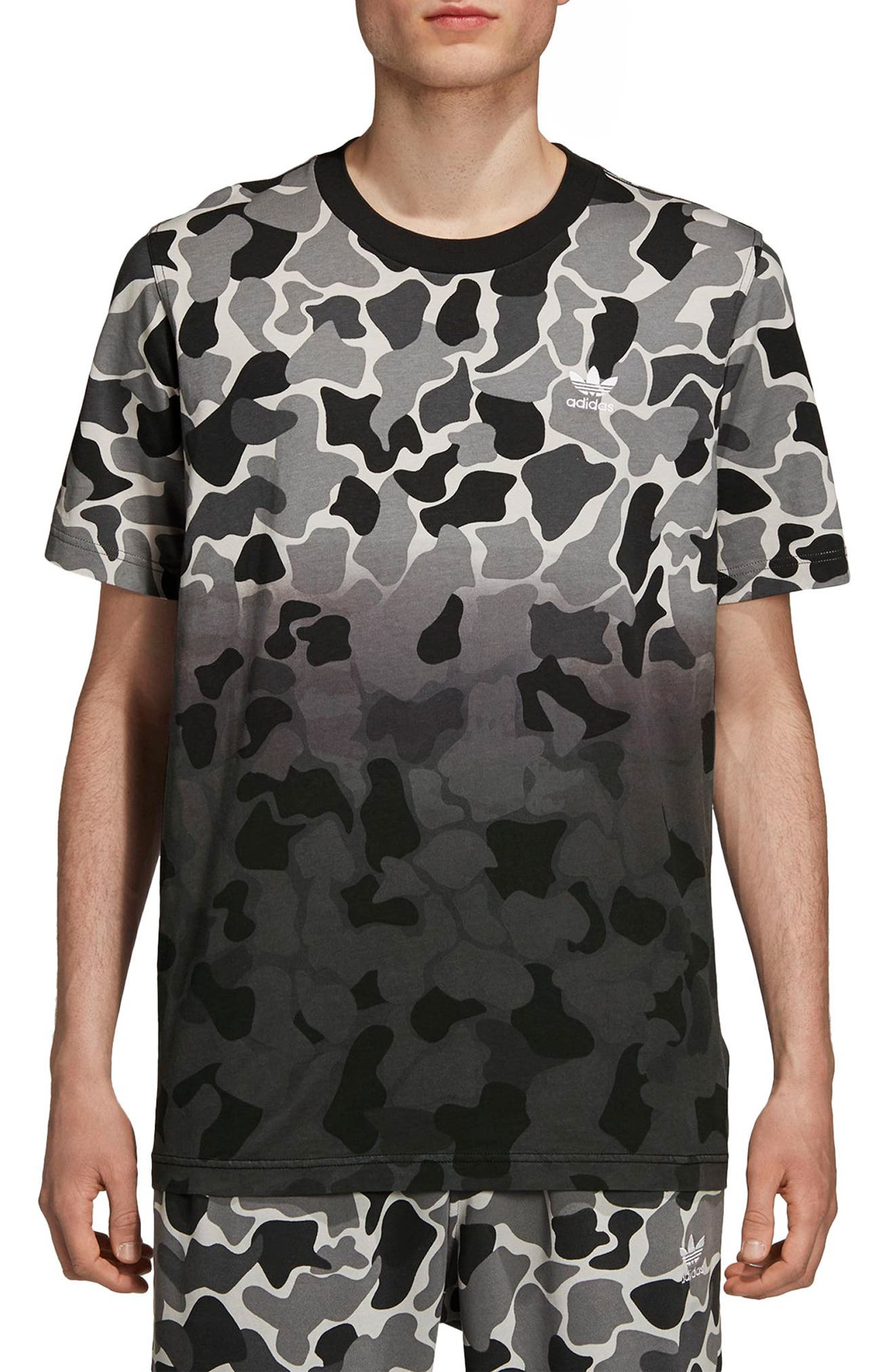 Camo Dip Dye T-Shirt,                         Main,                         color, MULTICOLOR