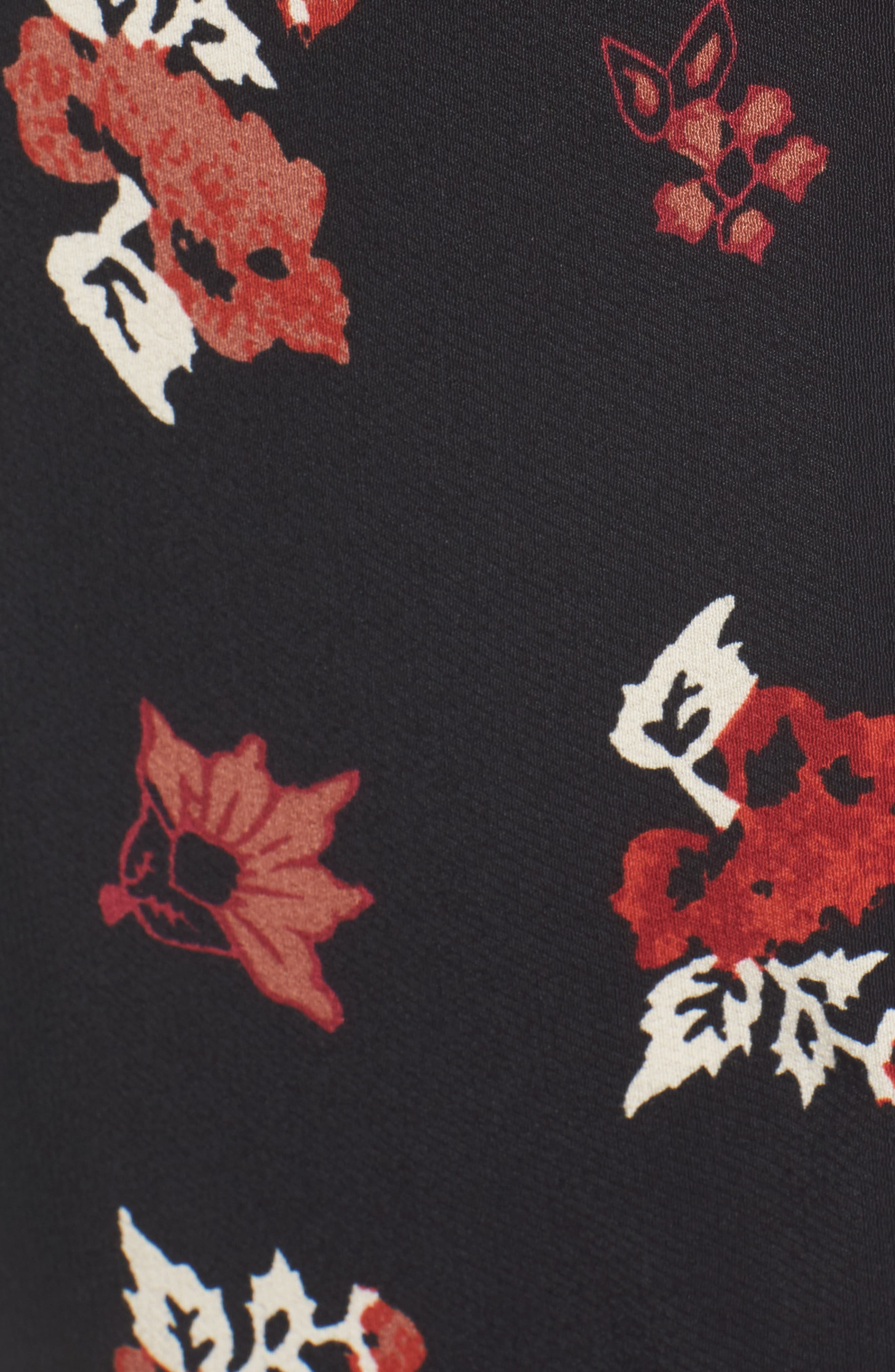 Floral Shift Dress,                             Alternate thumbnail 5, color,                             001