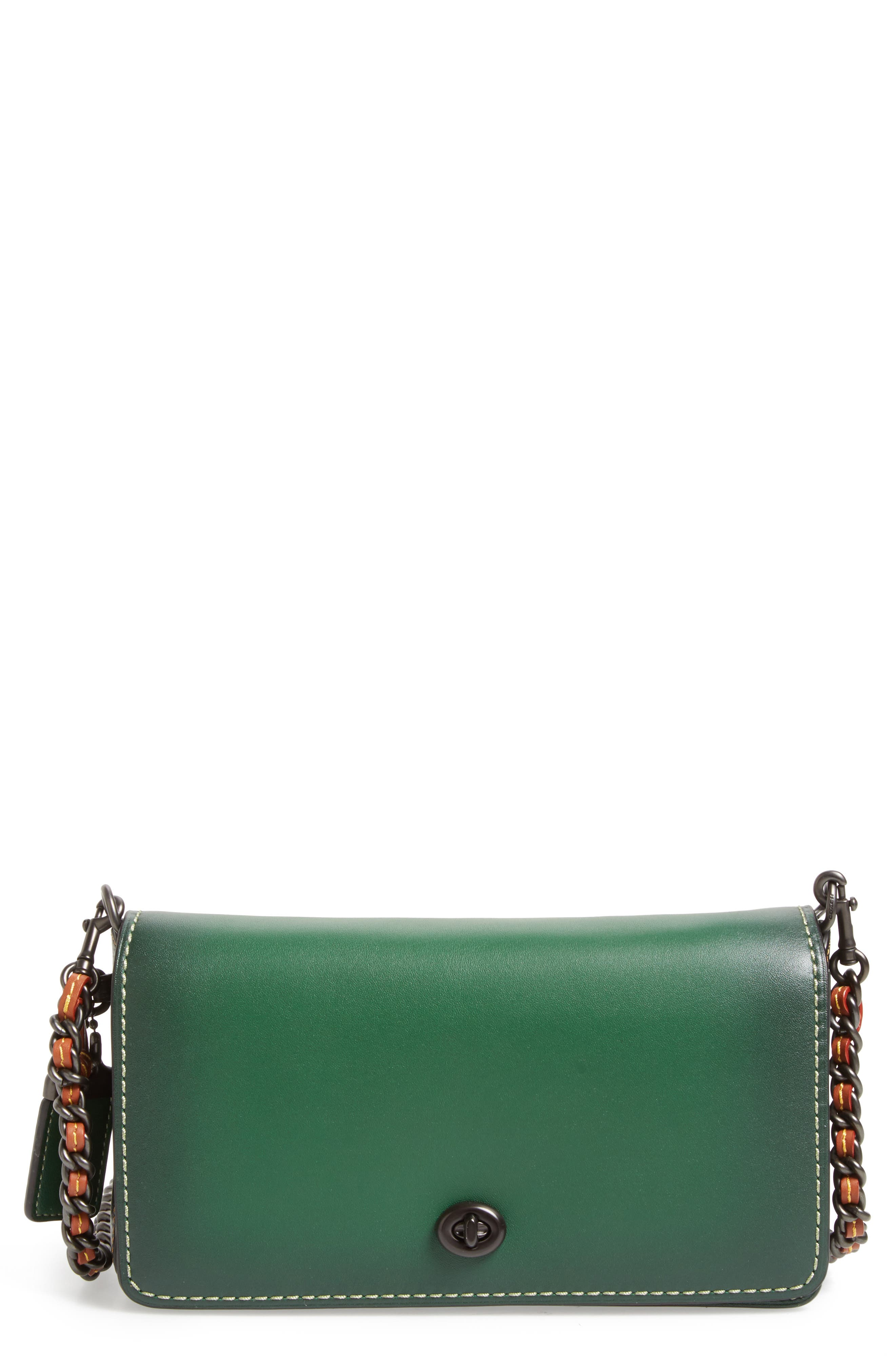 'Dinky' Leather Crossbody Bag,                             Main thumbnail 1, color,                             001